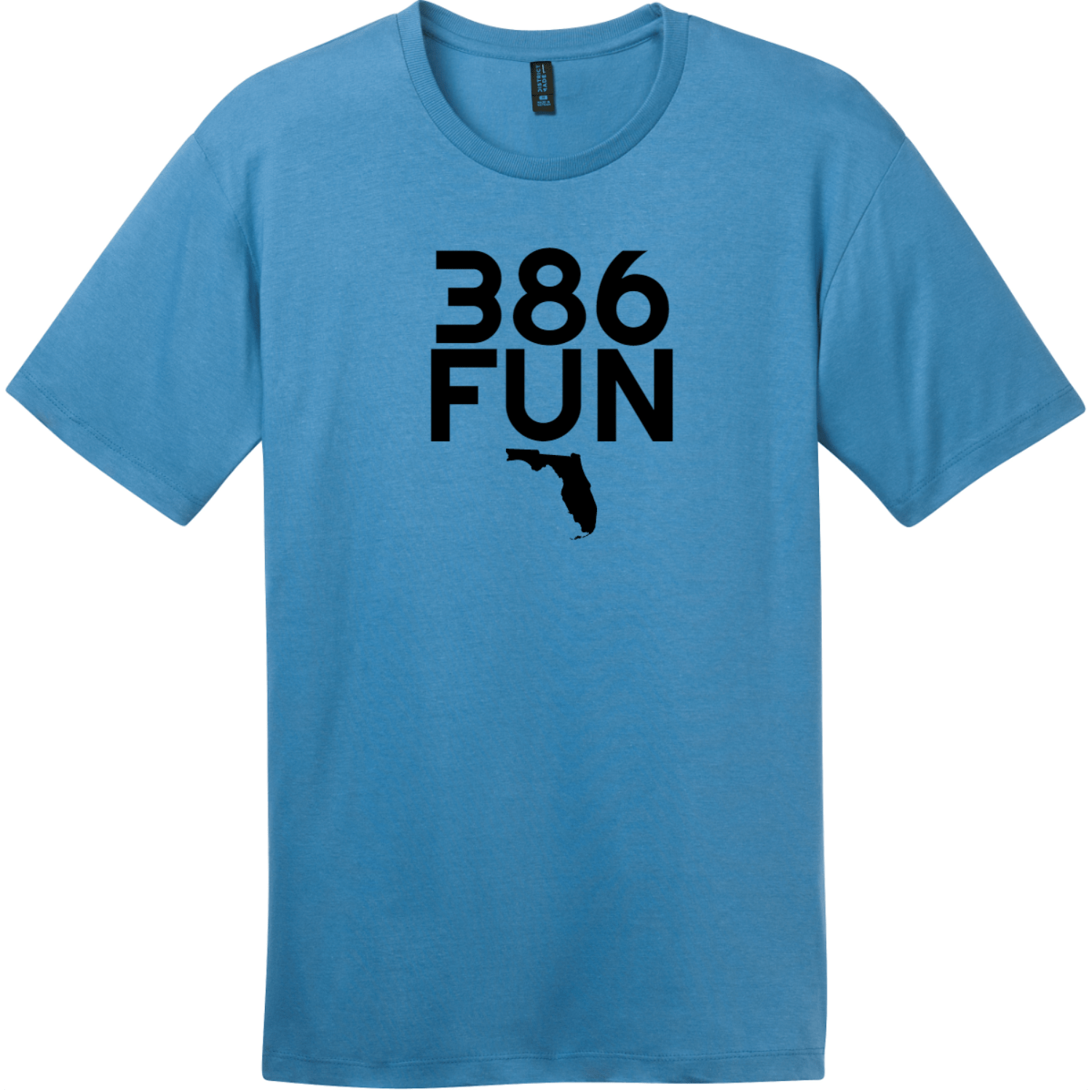 386 Fun Florida T-Shirt Clean Denim District Perfect Weight Tee DT104