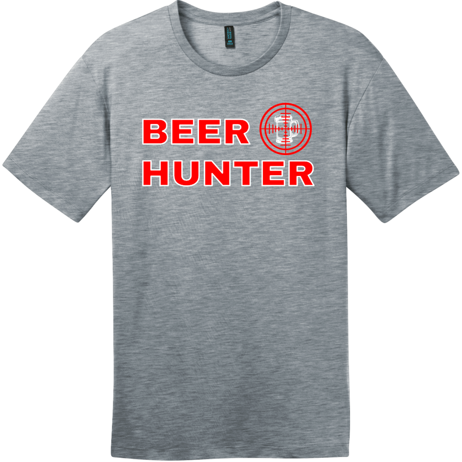 Beer Hunter Funny Beer T-Shirt Heathered Steel District Perfect Weight Tee DT104