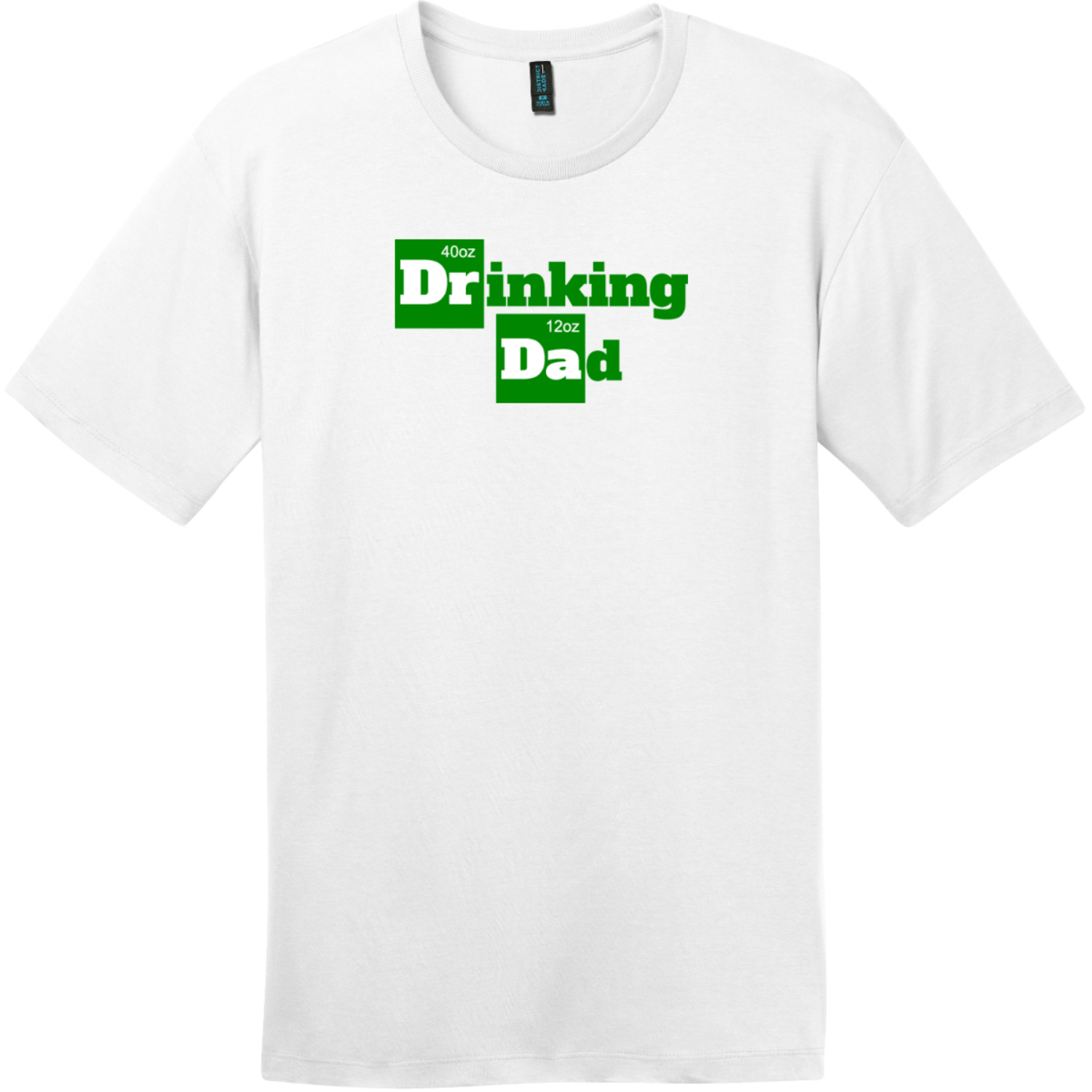 Drinking Dad Funny Beer T-Shirt Bright White District Perfect Weight Tee DT104