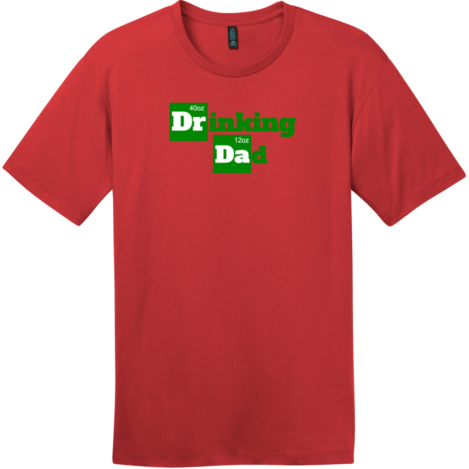 Drinking Dad Funny Beer T-Shirt Classic Red District Perfect Weight Tee DT104