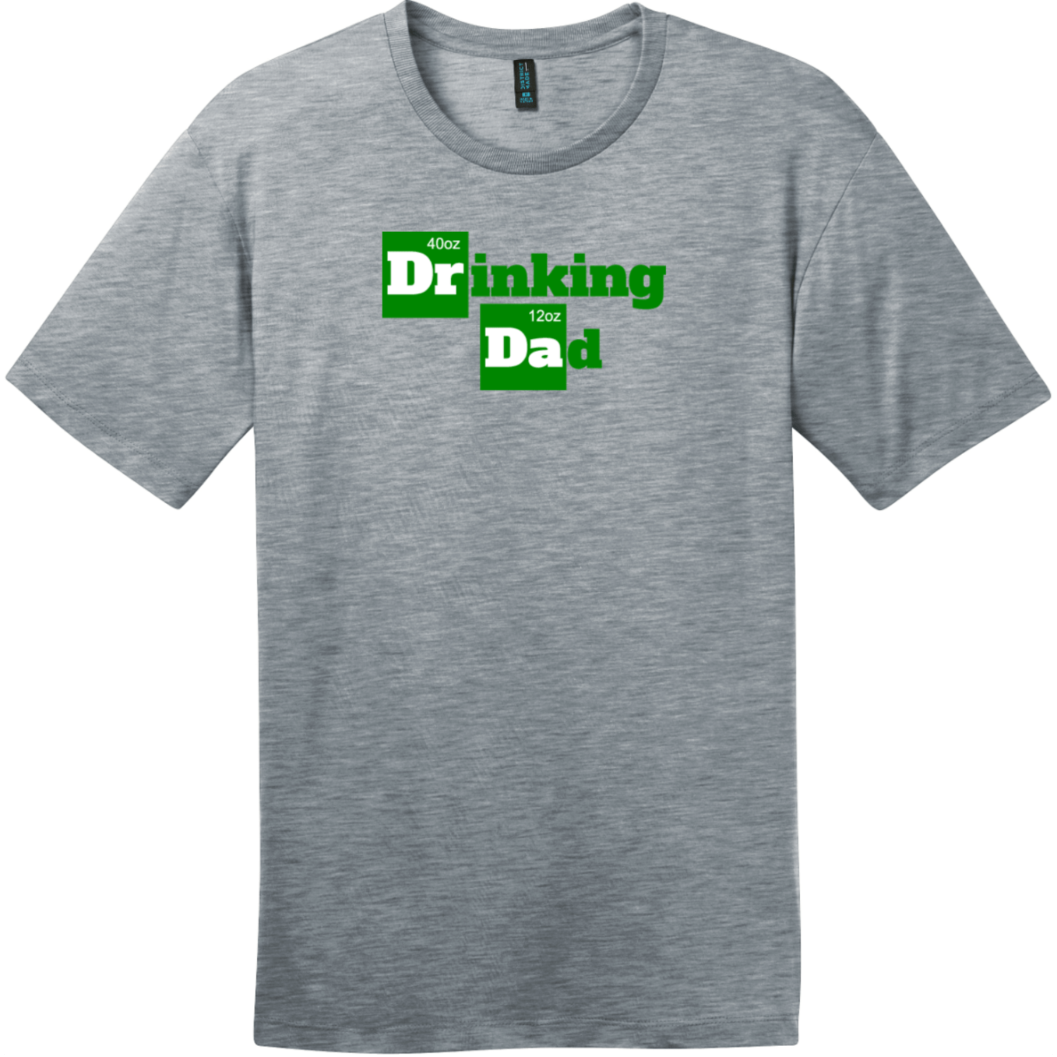 Drinking Dad Funny Beer T-Shirt Heathered Steel District Perfect Weight Tee DT104