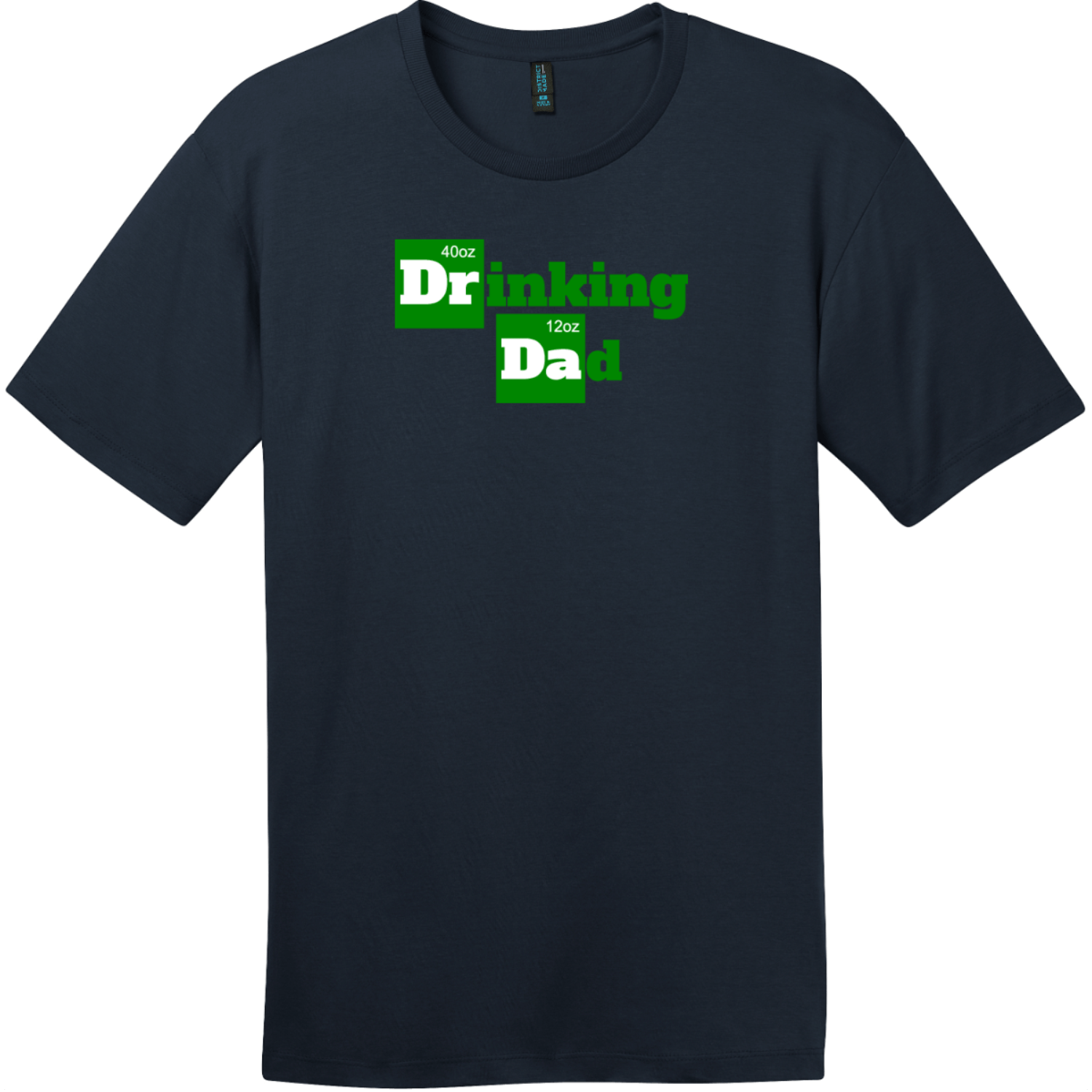 Drinking Dad Funny Beer T-Shirt New Navy District Perfect Weight Tee DT104
