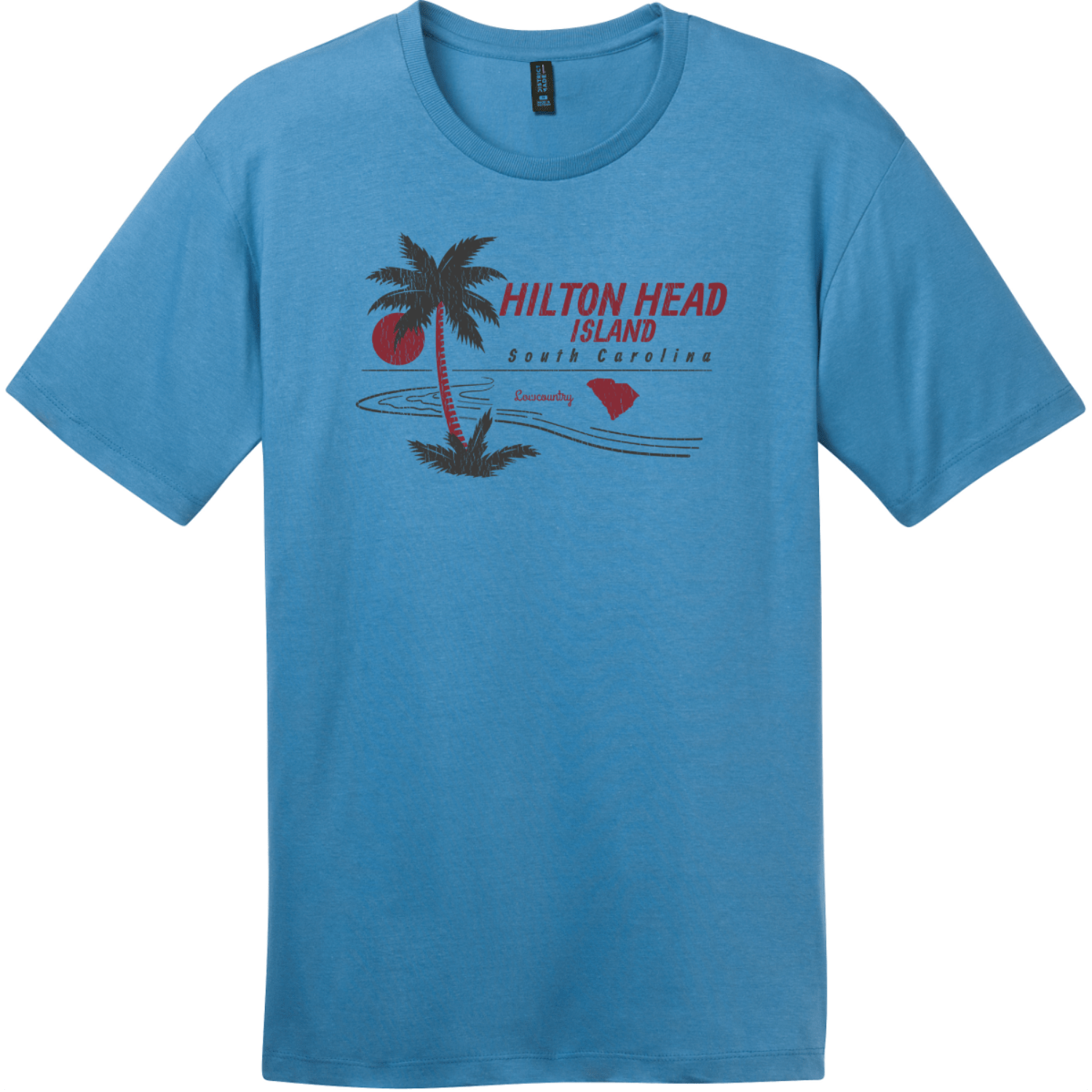 Hilton Head Island Lowcountry T-Shirt Clean Denim District Perfect Weight Tee DT104