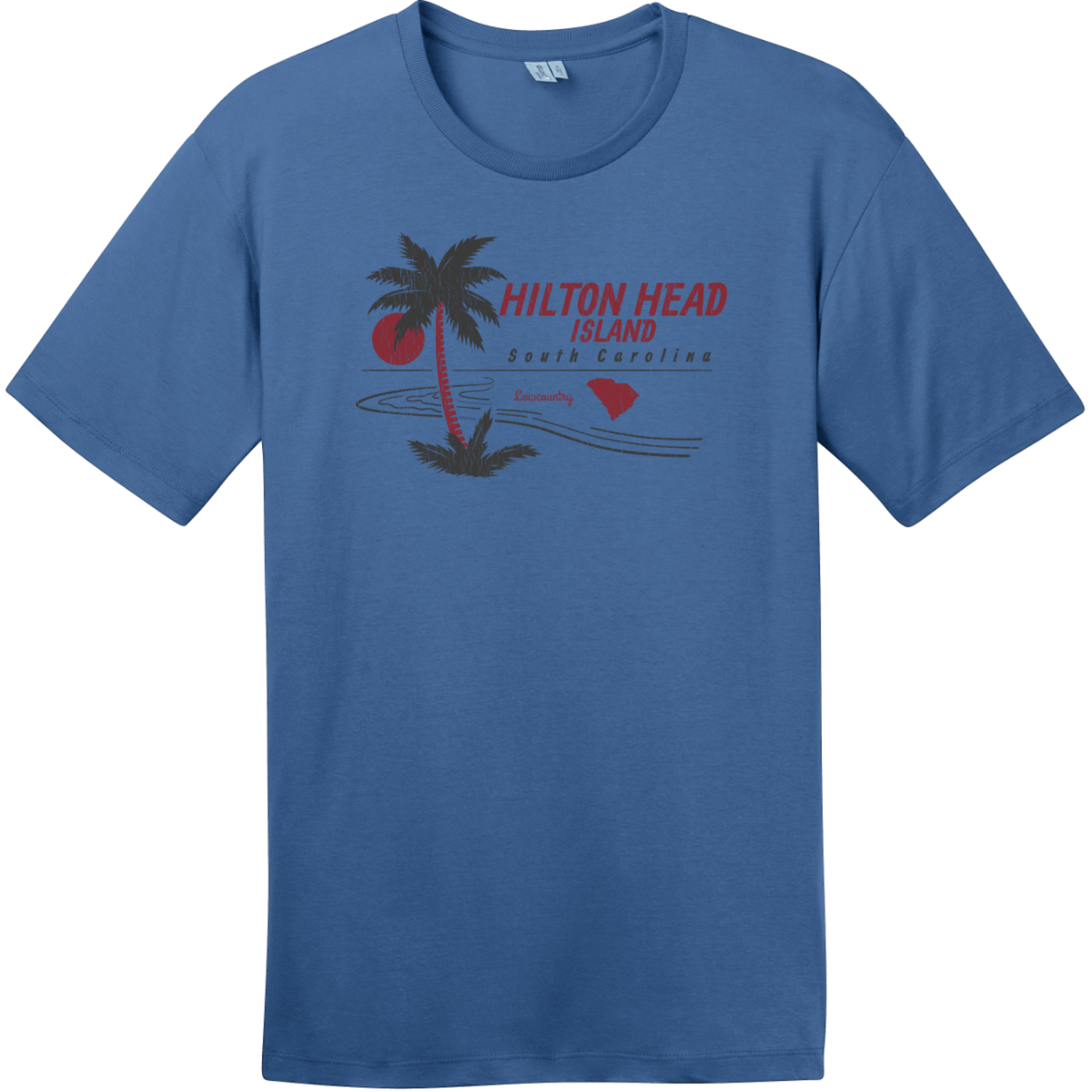 Hilton Head Island Lowcountry T-Shirt Maritime Blue District Perfect Weight Tee DT104
