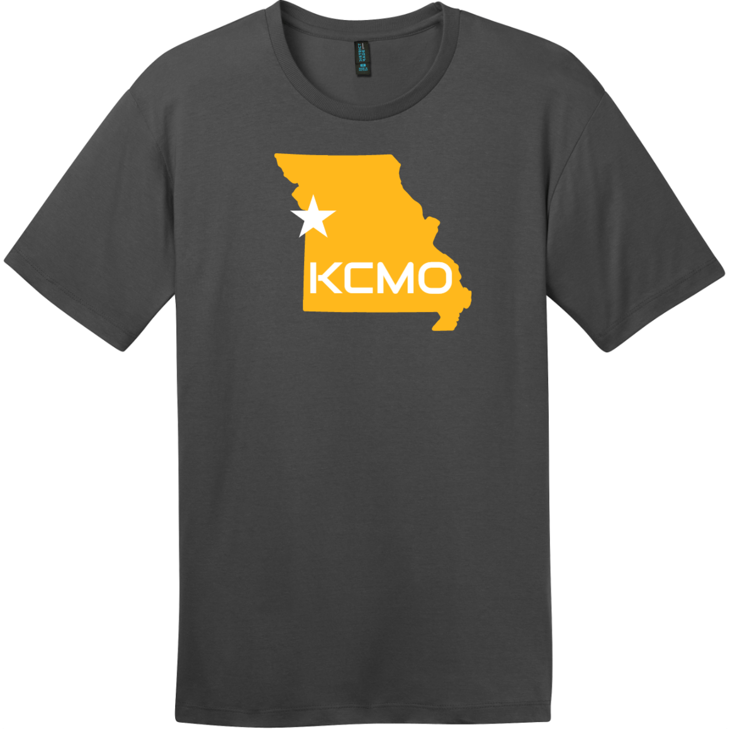 KCMO Missouri T-Shirt Charcoal District Perfect Weight Tee DT104