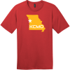 KCMO Missouri T-Shirt Classic Red District Perfect Weight Tee DT104