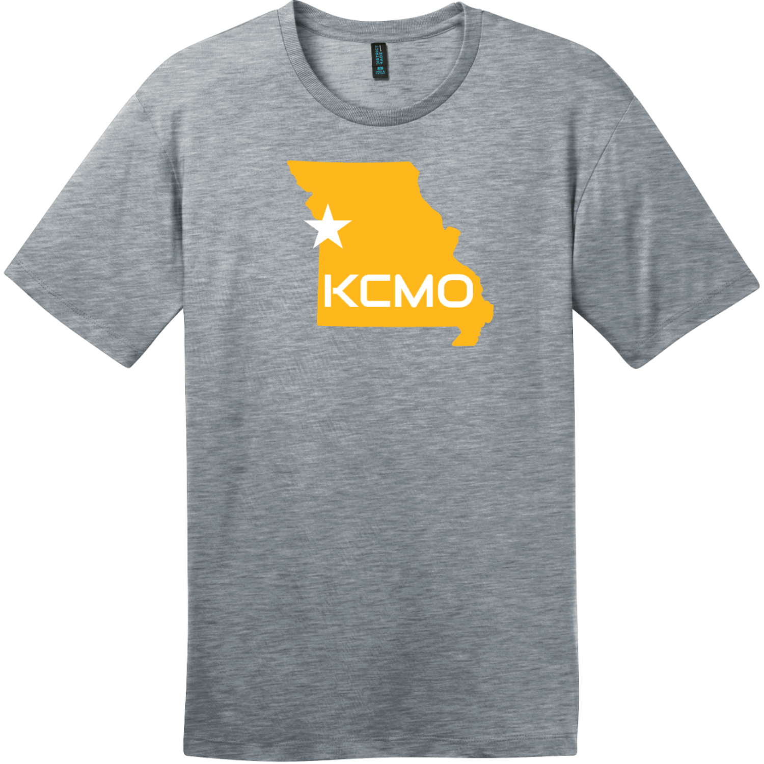 KCMO Missouri T-Shirt Heathered Steel District Perfect Weight Tee DT104