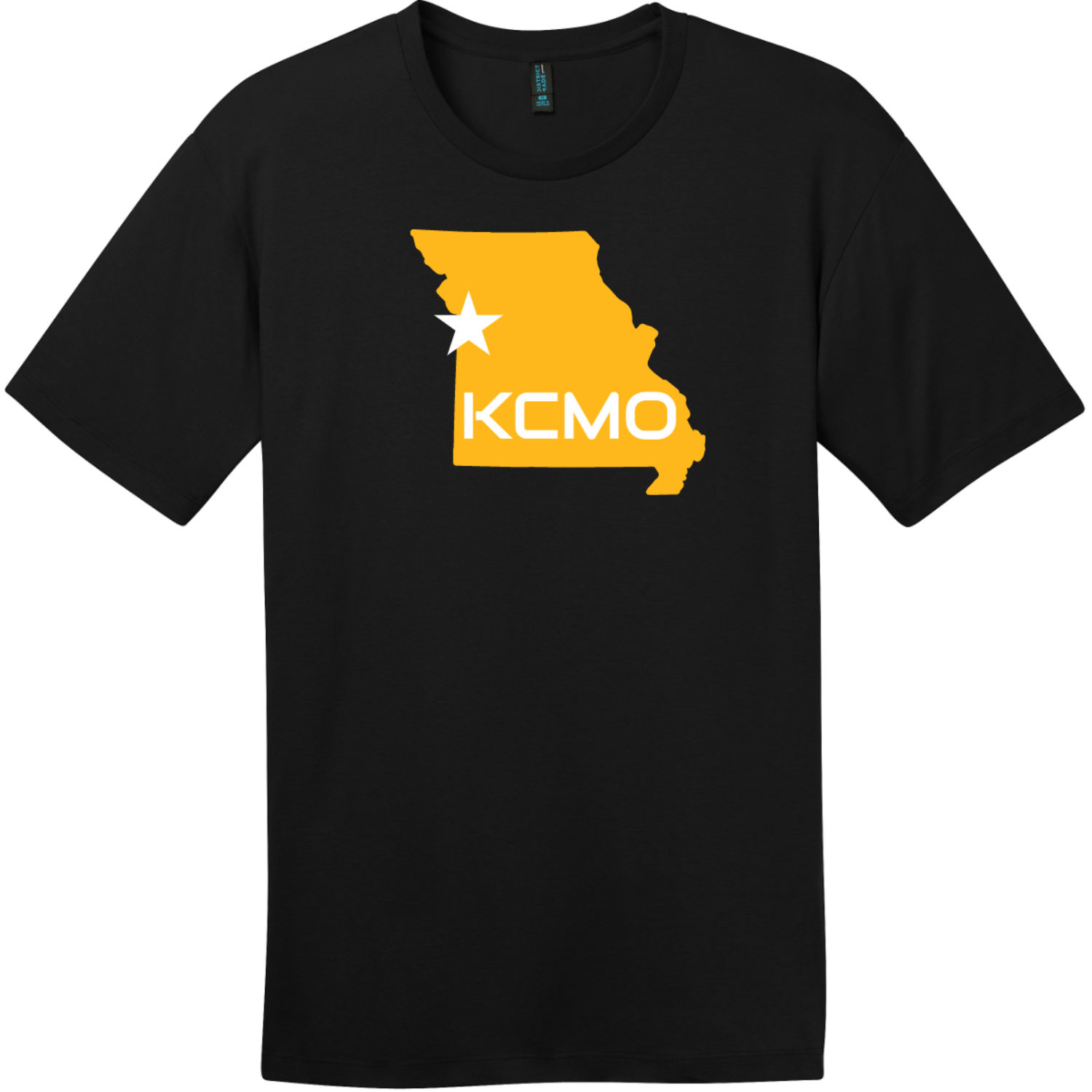 KCMO Missouri T-Shirt Jet Black District Perfect Weight Tee DT104