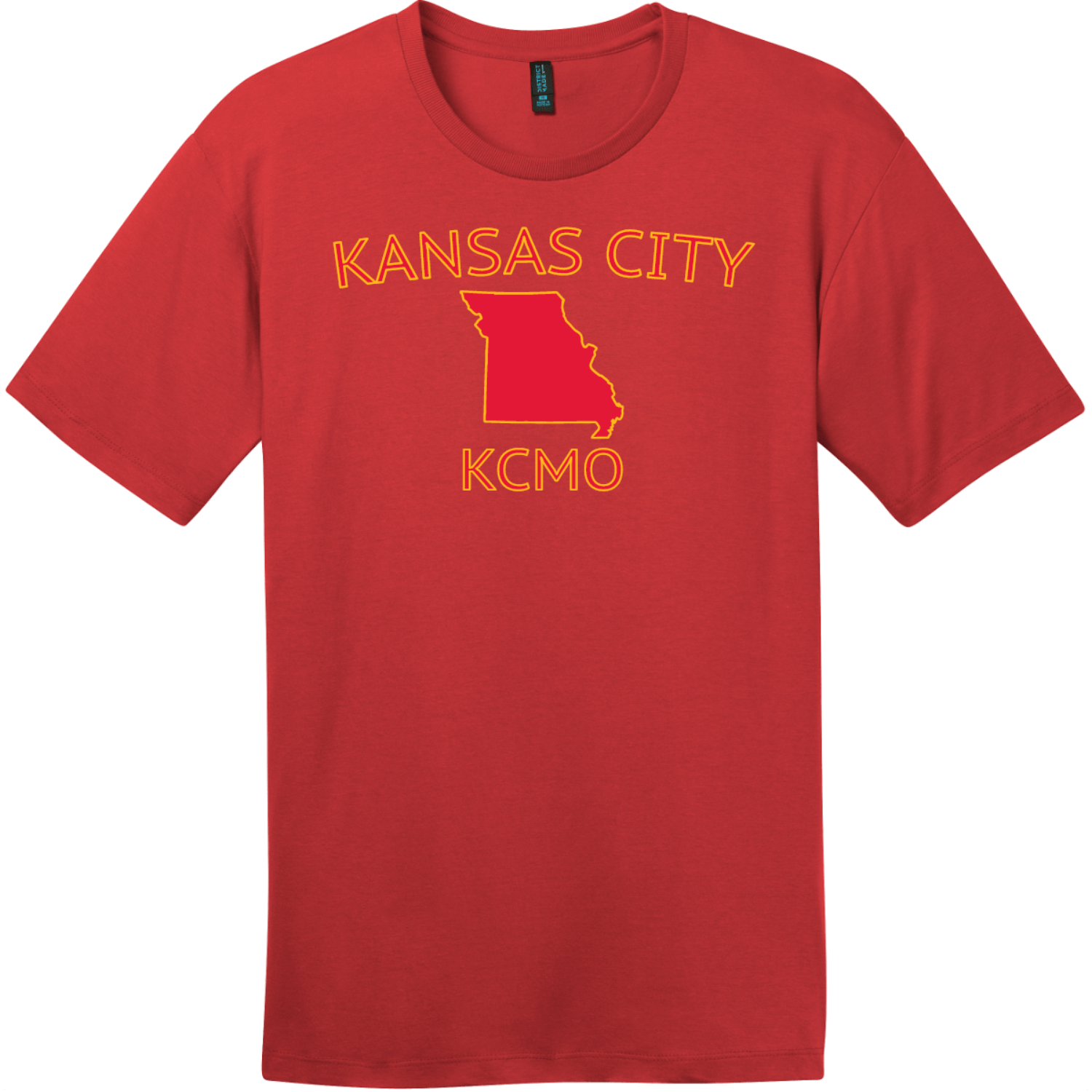 Kansas City KCMO T-Shirt Classic Red District Perfect Weight Tee DT104
