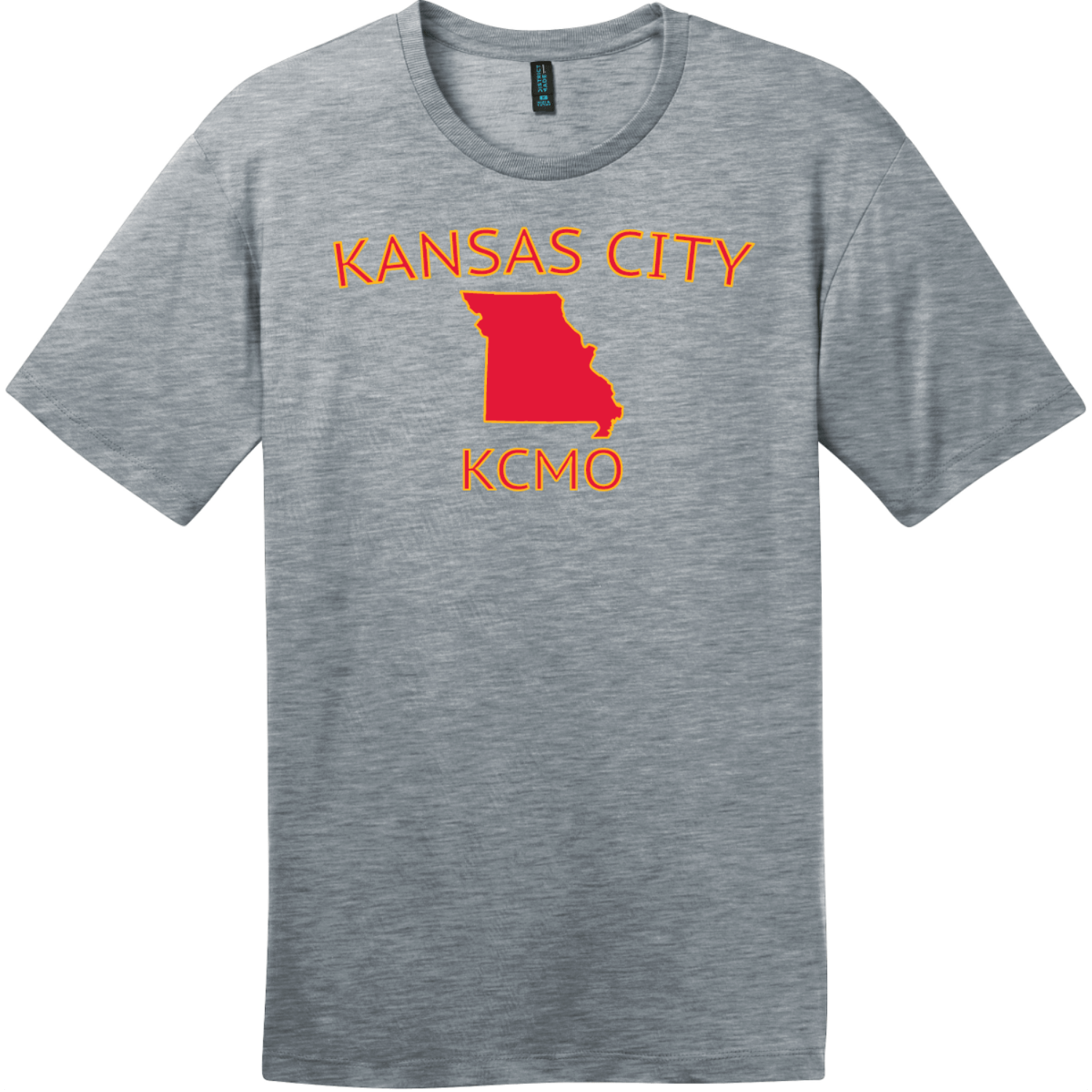 Kansas City KCMO T-Shirt Heathered Steel District Perfect Weight Tee DT104
