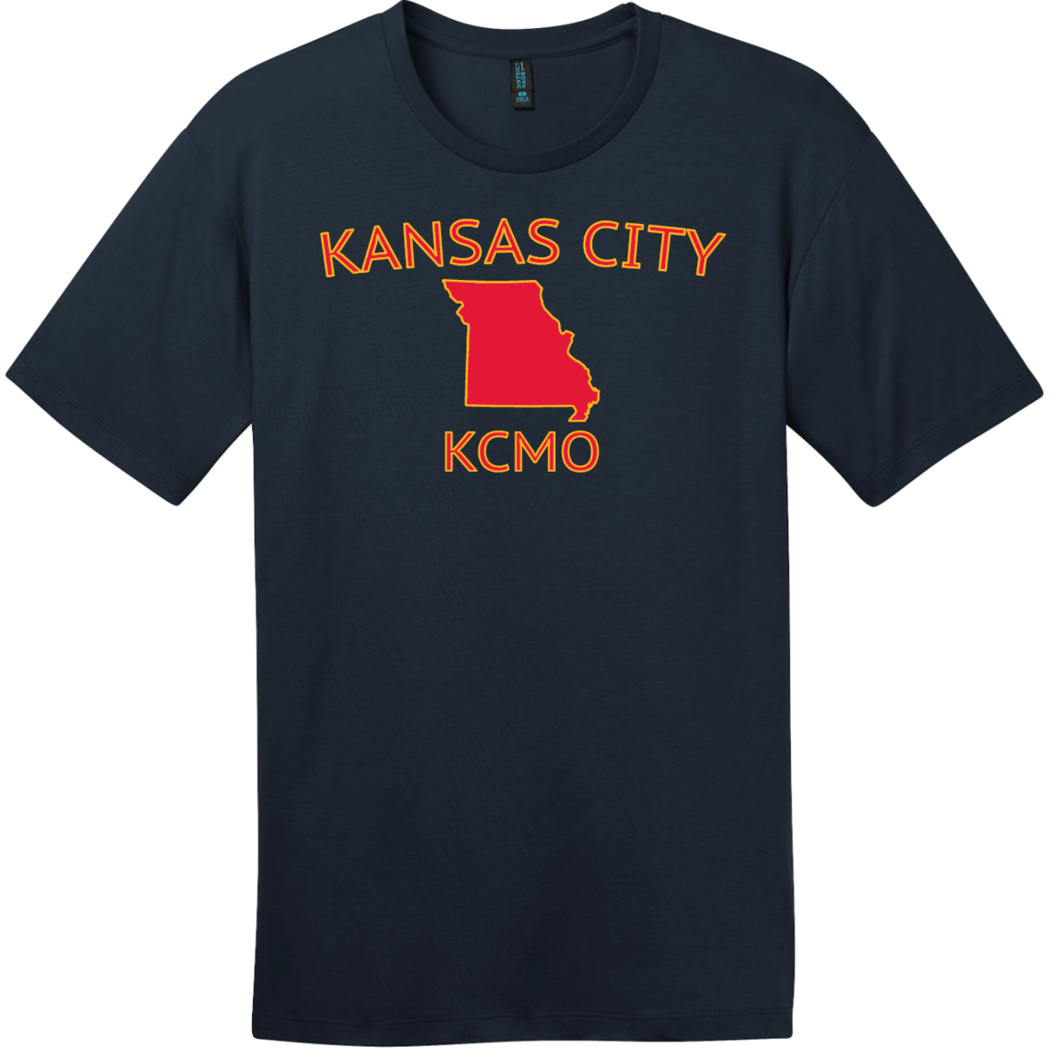 Kansas City KCMO T-Shirt New Navy District Perfect Weight Tee DT104