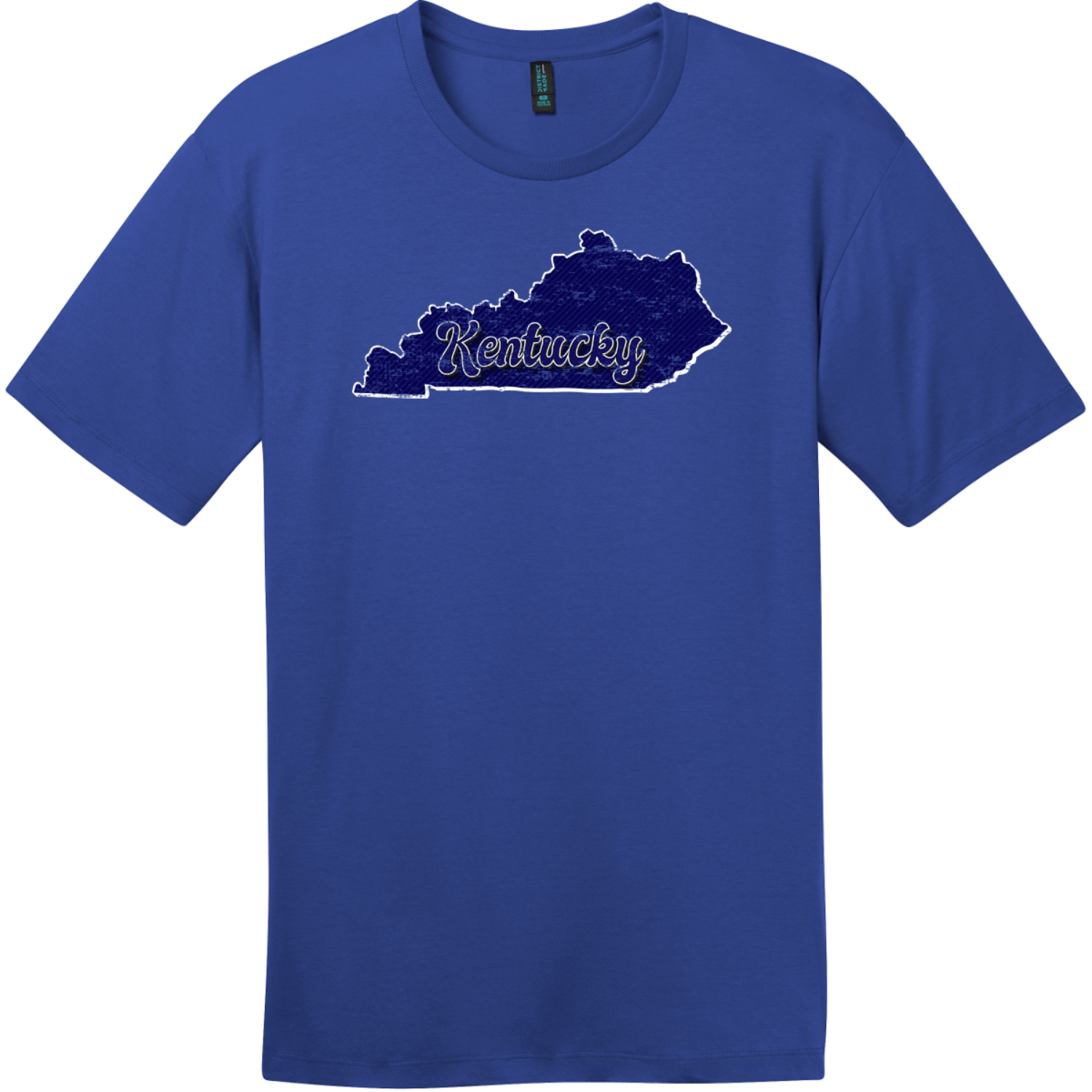 Kentucky State Retro T-Shirt Deep Royal District Perfect Weight Tee DT104