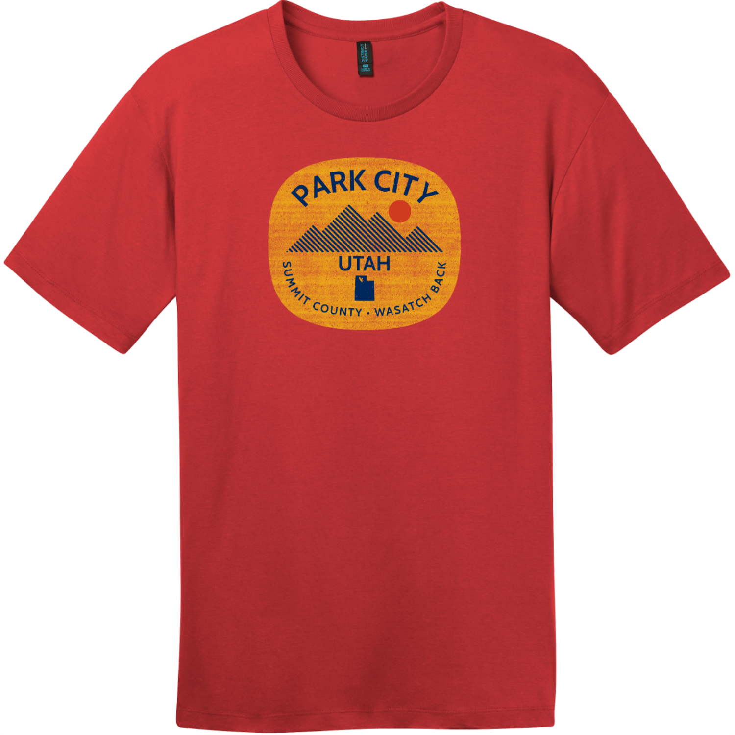 Park City Utah Wasatch Back T-Shirt Classic Red District Perfect Weight Tee DT104