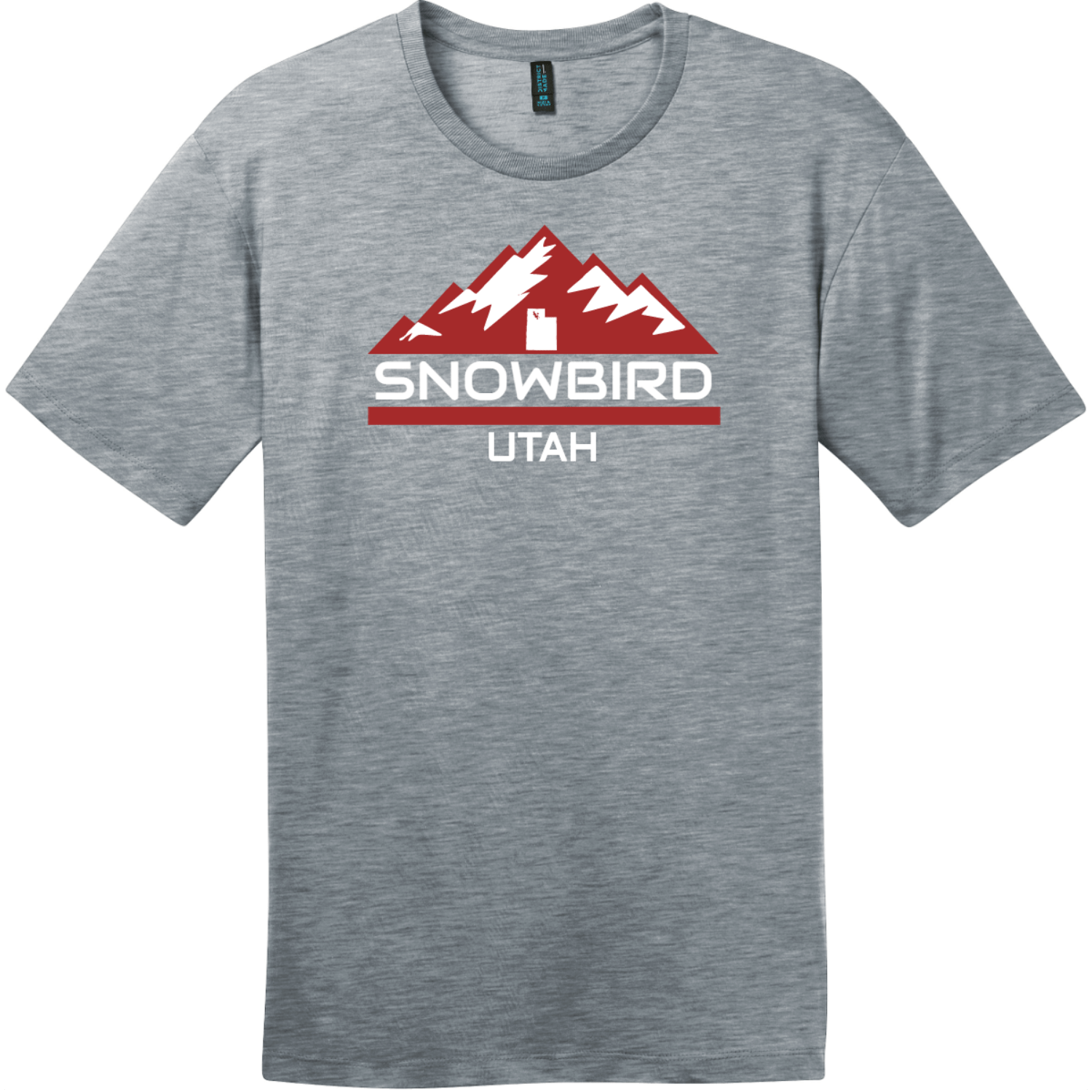 Snowbird Utah Mountain T-Shirt Heathered Steel District Perfect Weight Tee DT104