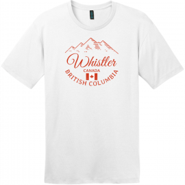 Whistler BC Canada Mountain T-Shirt Bright White District Perfect Weight Tee DT104
