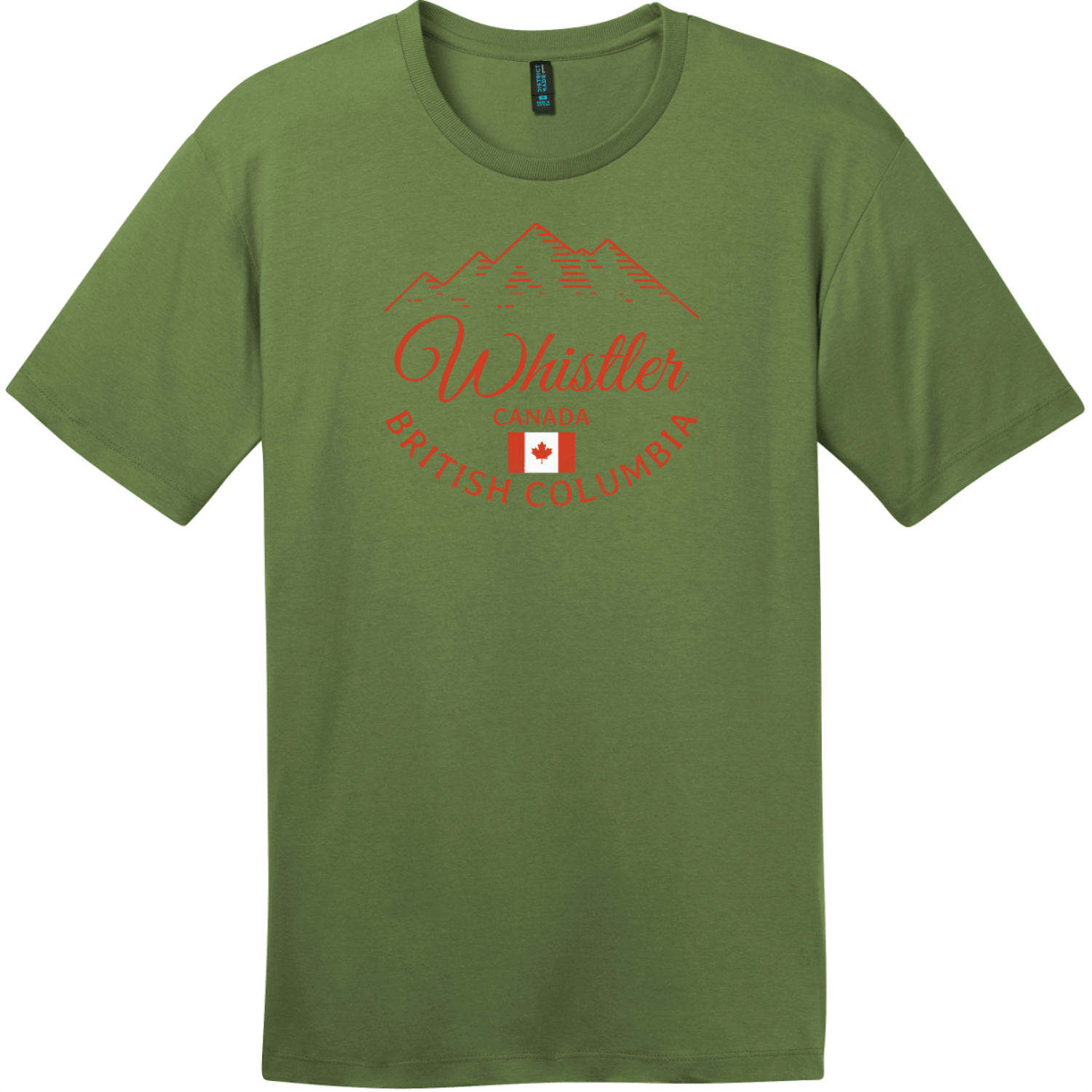 Whistler BC Canada Mountain T-Shirt Fresh Fatigue District Perfect Weight Tee DT104