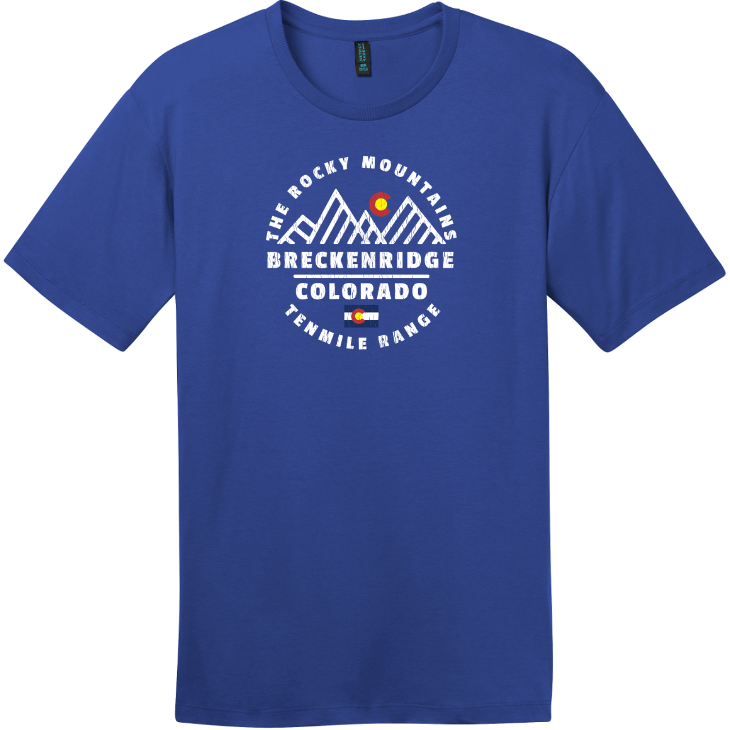 Breckenridge Tenmile Range Mountain T-Shirt Deep Royal District Perfect Weight Tee DT104