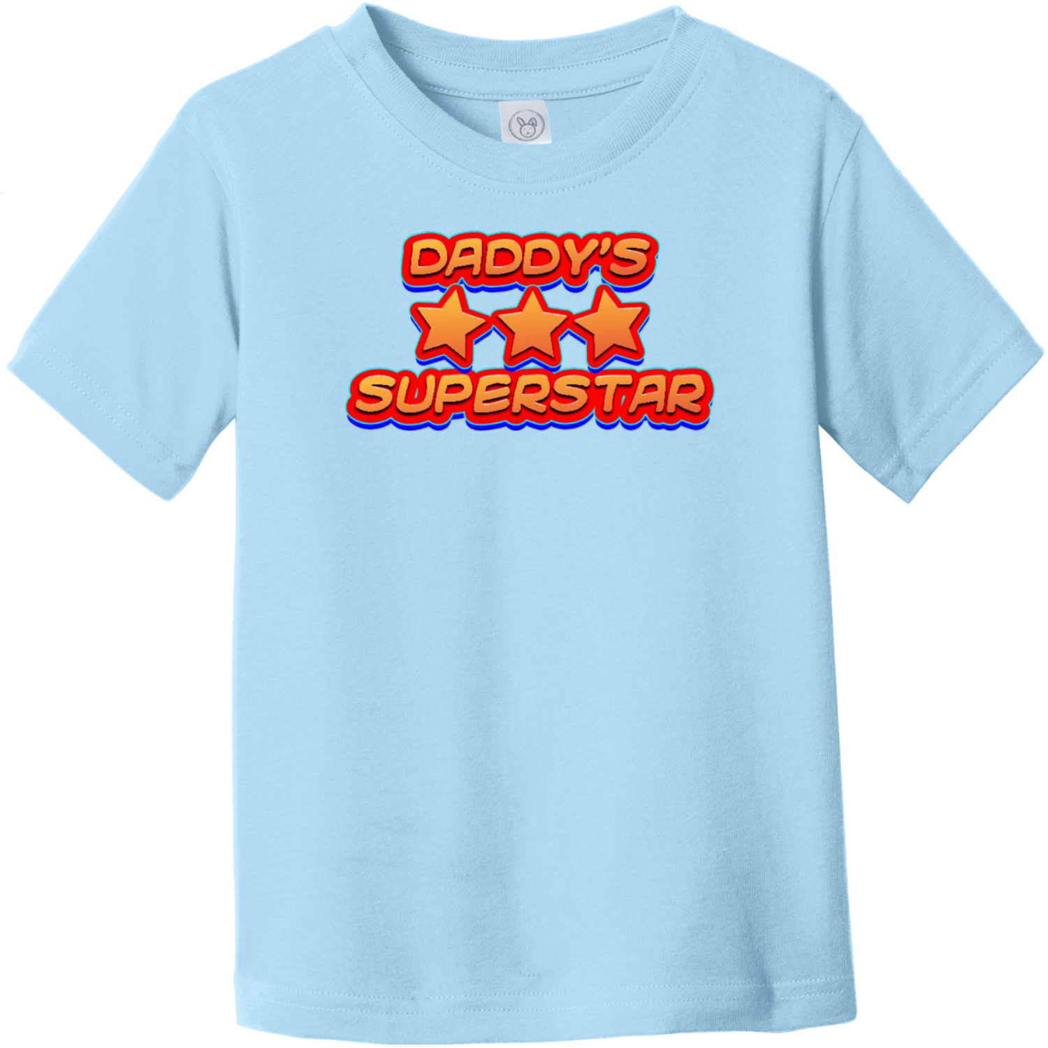 Daddy's Superstar Toddler T-Shirt Light Blue Rabbit Skins Toddler Fine Jersey Tee RS3321
