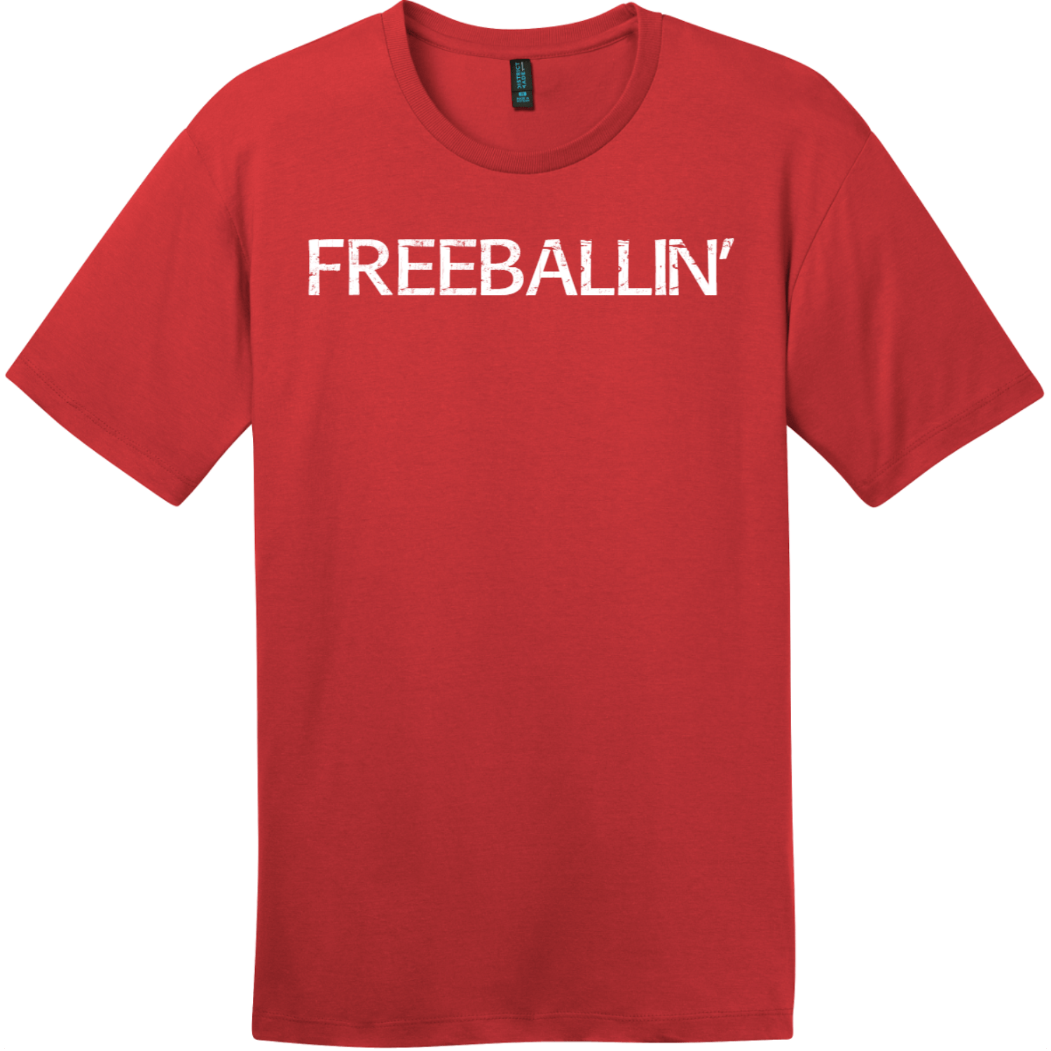 Freeballin T-Shirt Classic Red District Perfect Weight Tee DT104