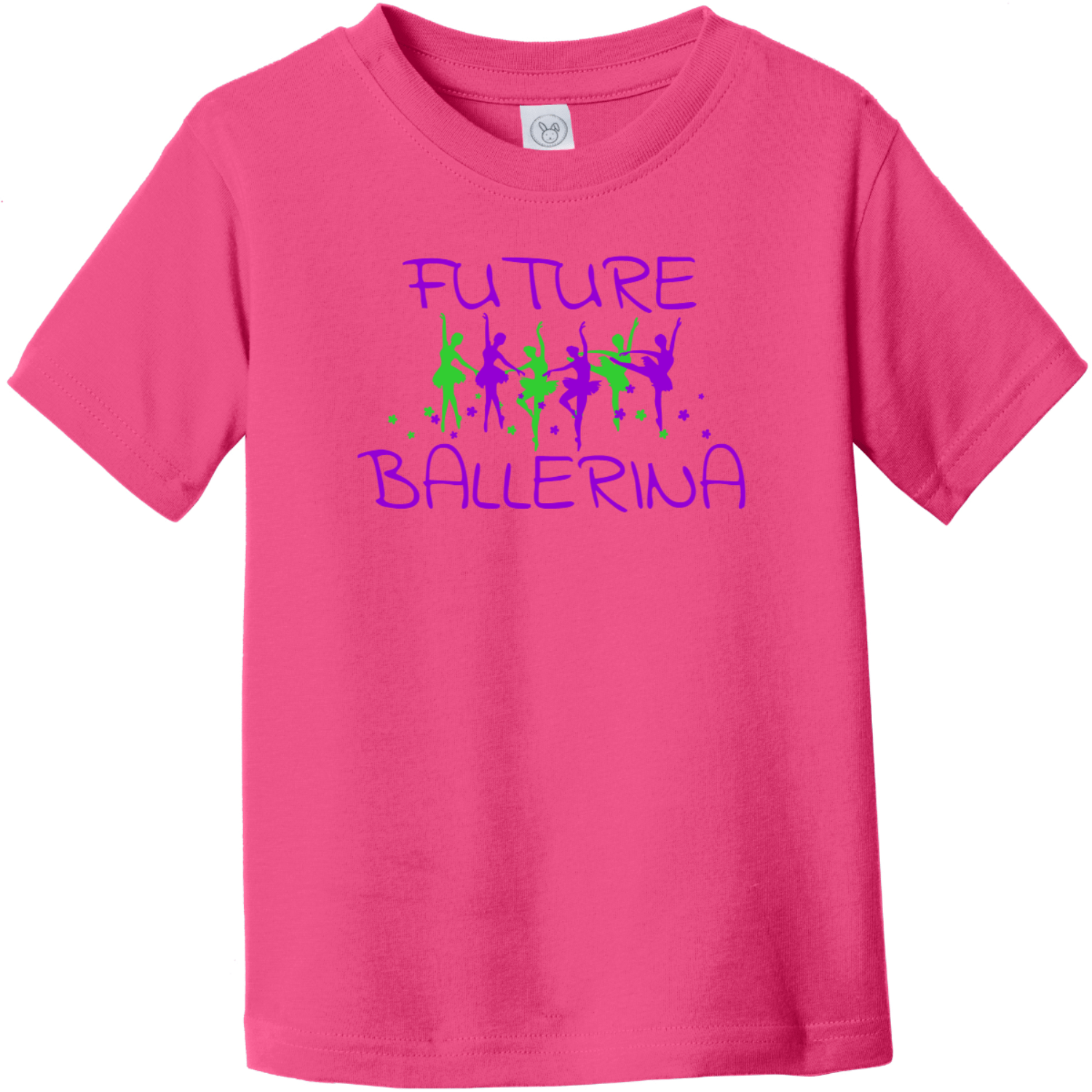 Future Ballerina Toddler T-Shirt Hot Pink Rabbit Skins Toddler Fine Jersey Tee RS3321