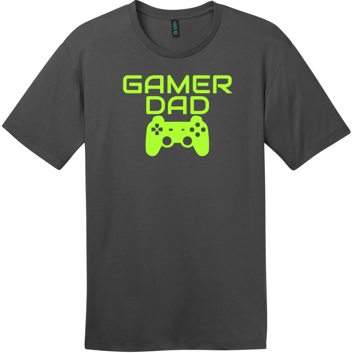 Gamer Dad T-Shirt Charcoal District Perfect Weight Tee DT104