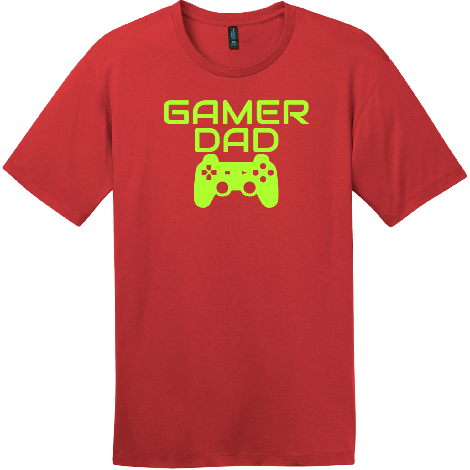Gamer Dad T-Shirt Classic Red District Perfect Weight Tee DT104