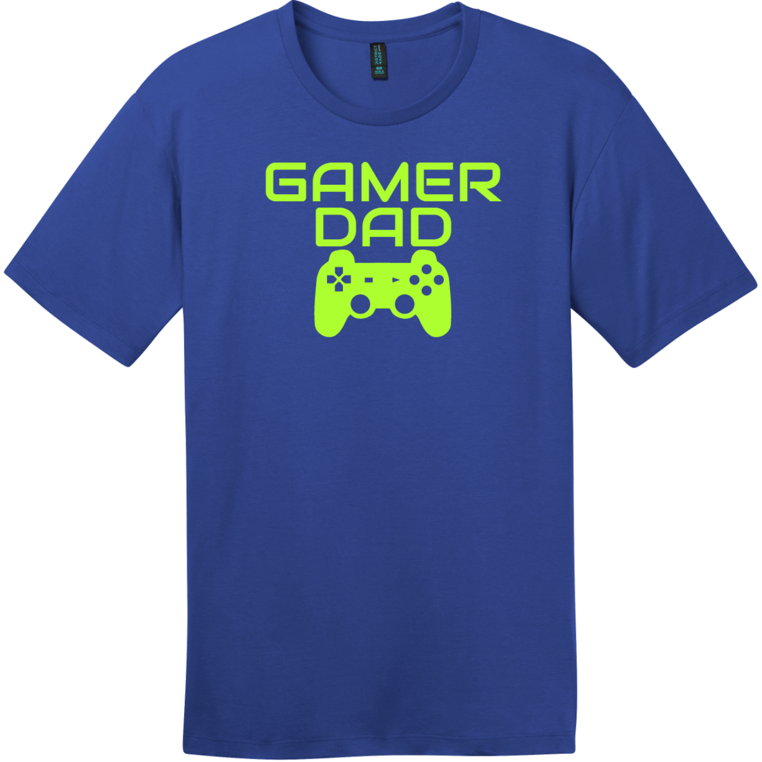 Gamer Dad T-Shirt Deep Royal District Perfect Weight Tee DT104