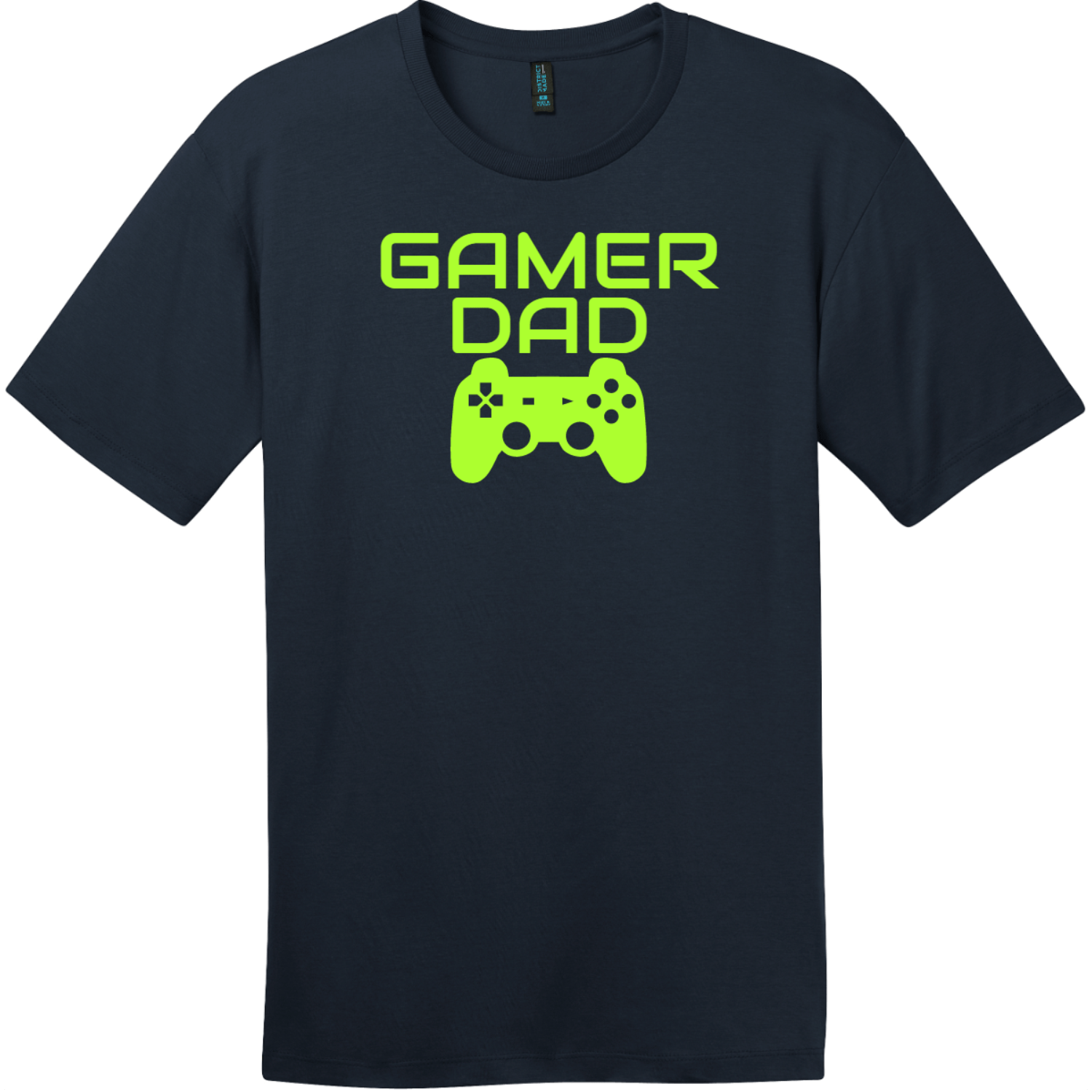 Gamer Dad T-Shirt New Navy District Perfect Weight Tee DT104