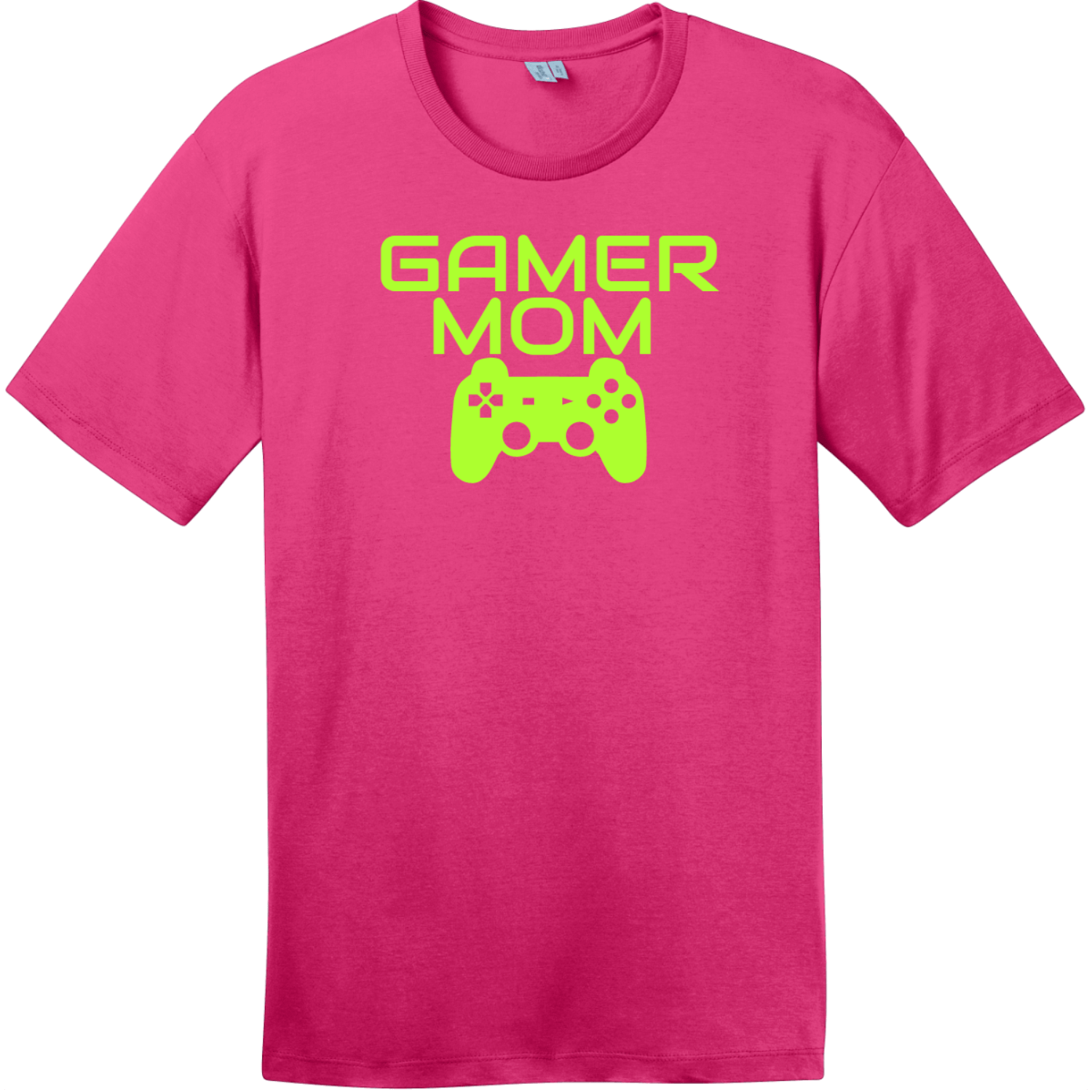Gamer Mom T-Shirt Dark Fuchsia District Perfect Weight Tee DT104