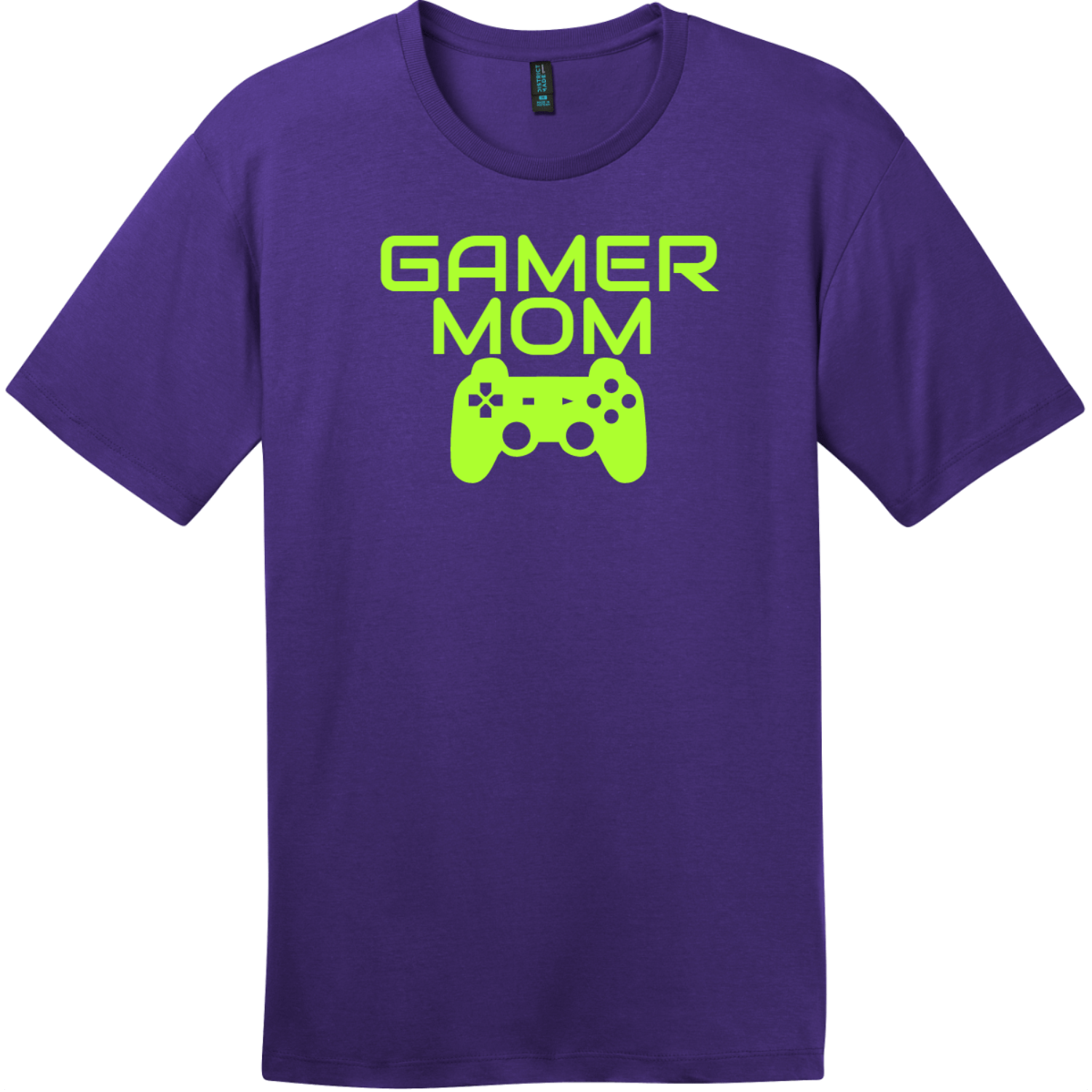 Gamer Mom T-Shirt Purple District Perfect Weight Tee DT104