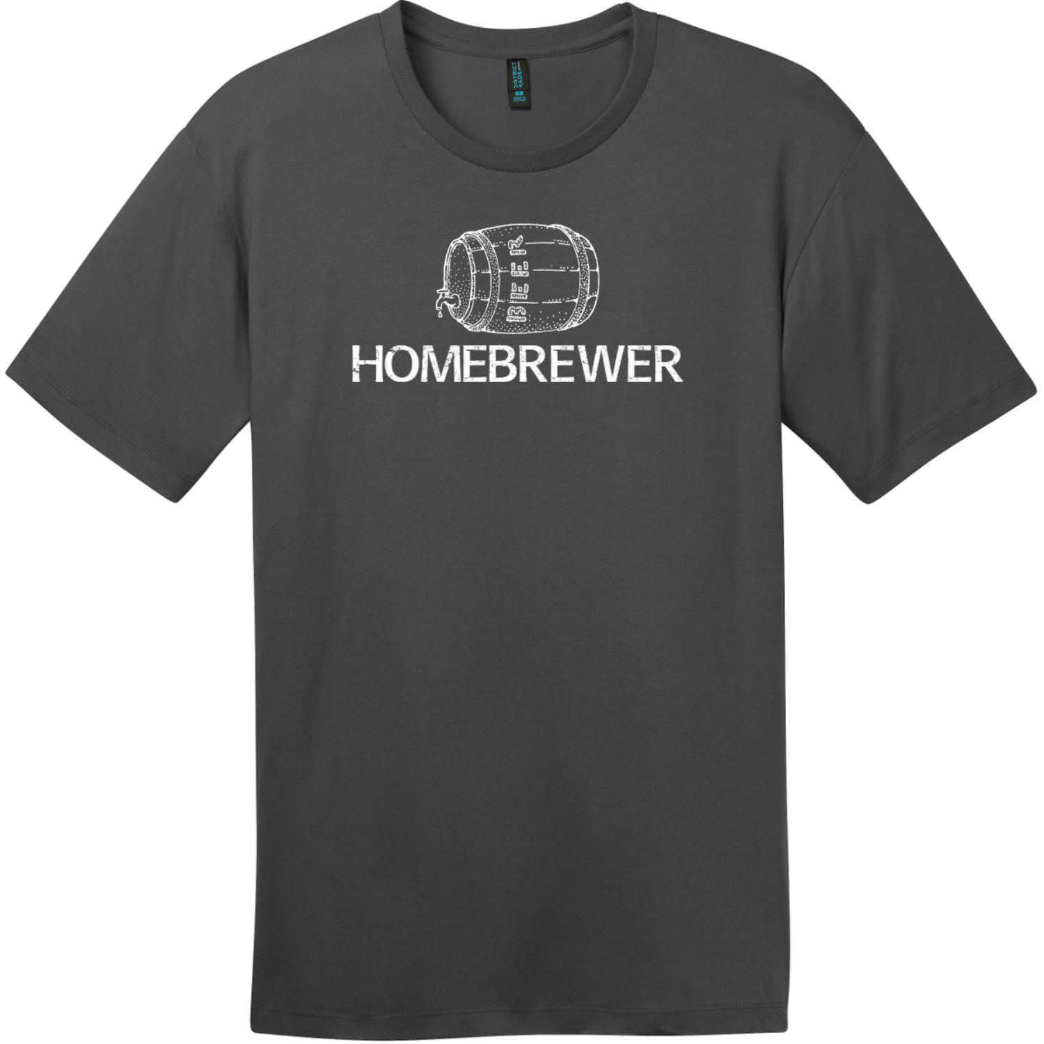 Homebrewer Beer T-Shirt Charcoal District Perfect Weight Tee DT104
