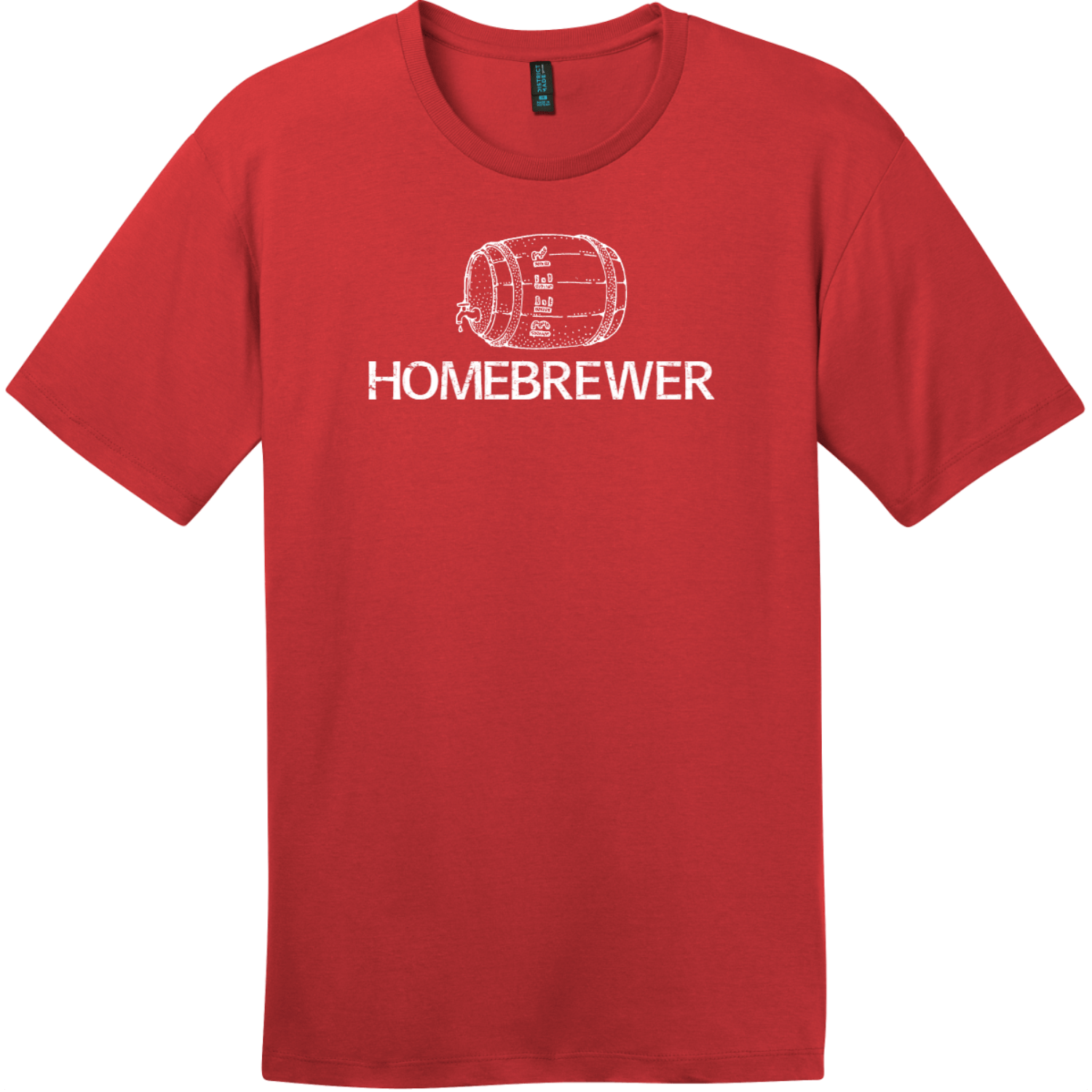 Homebrewer Beer T-Shirt Classic Red District Perfect Weight Tee DT104