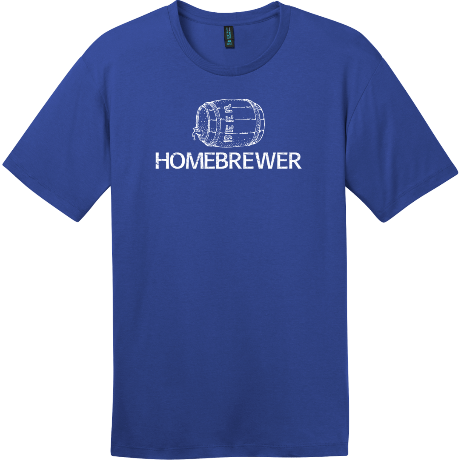 Homebrewer Beer T-Shirt Deep Royal District Perfect Weight Tee DT104