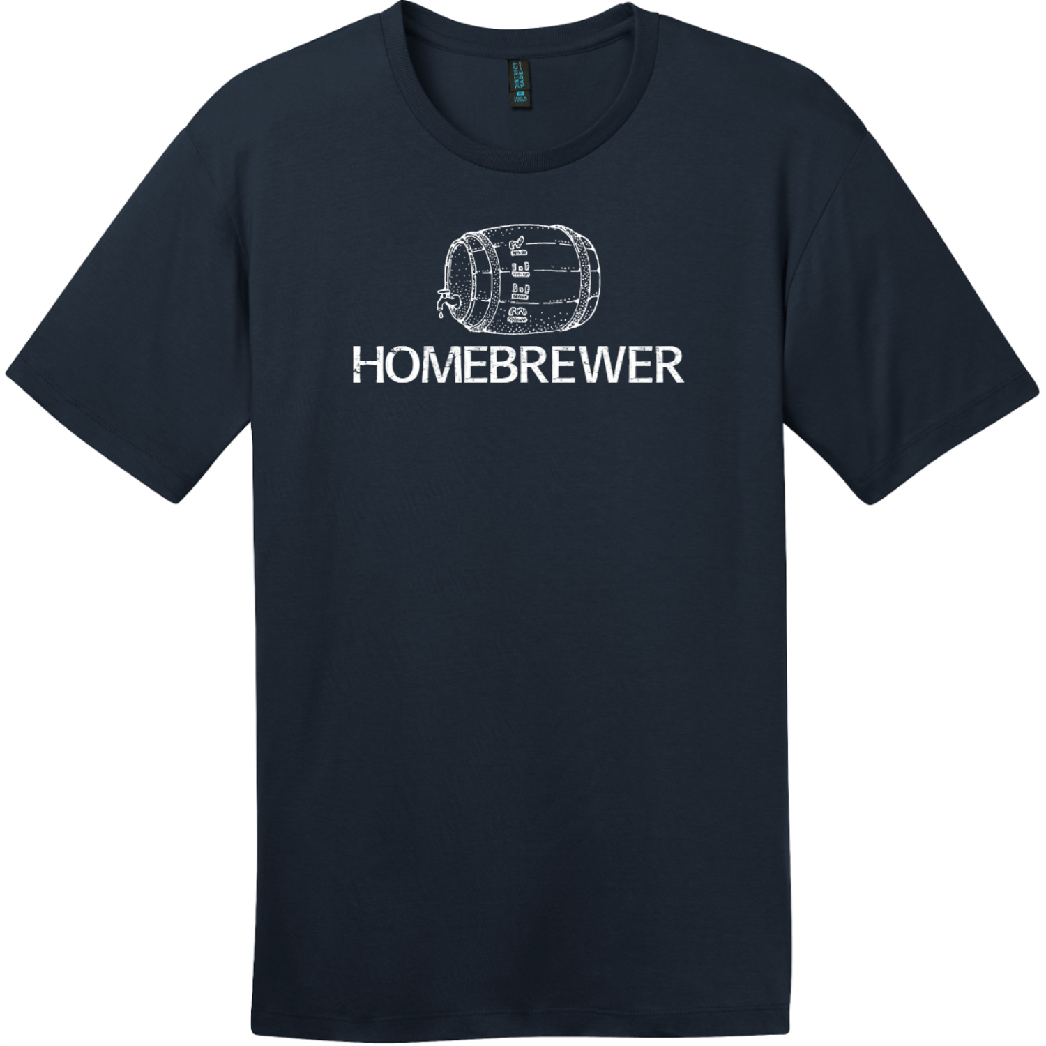 Homebrewer Beer T-Shirt New Navy District Perfect Weight Tee DT104