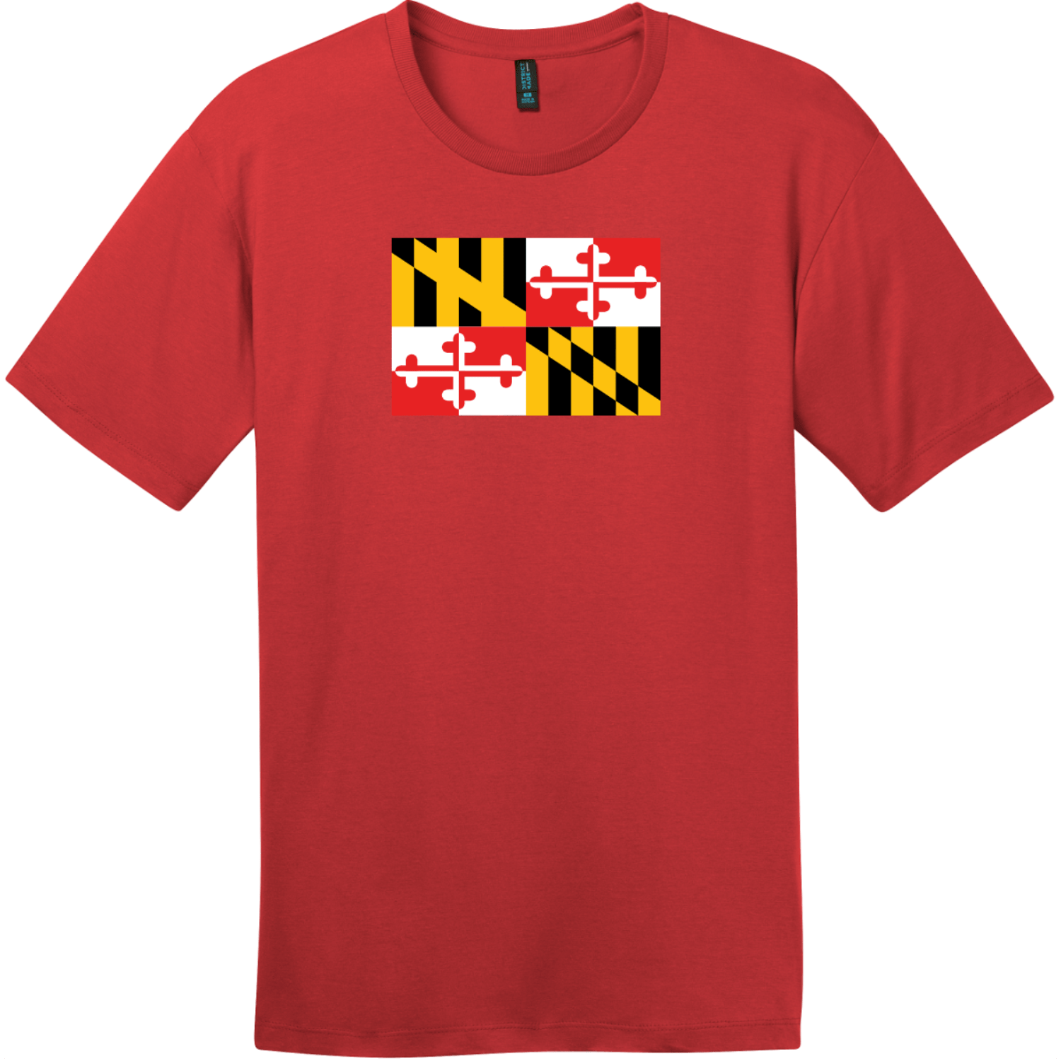 Maryland State Flag T-Shirt Classic Red District Perfect Weight Tee DT104