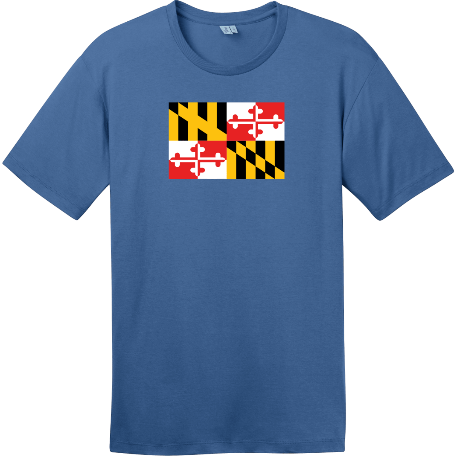 Maryland State Flag T-Shirt Maritime Blue District Perfect Weight Tee DT104