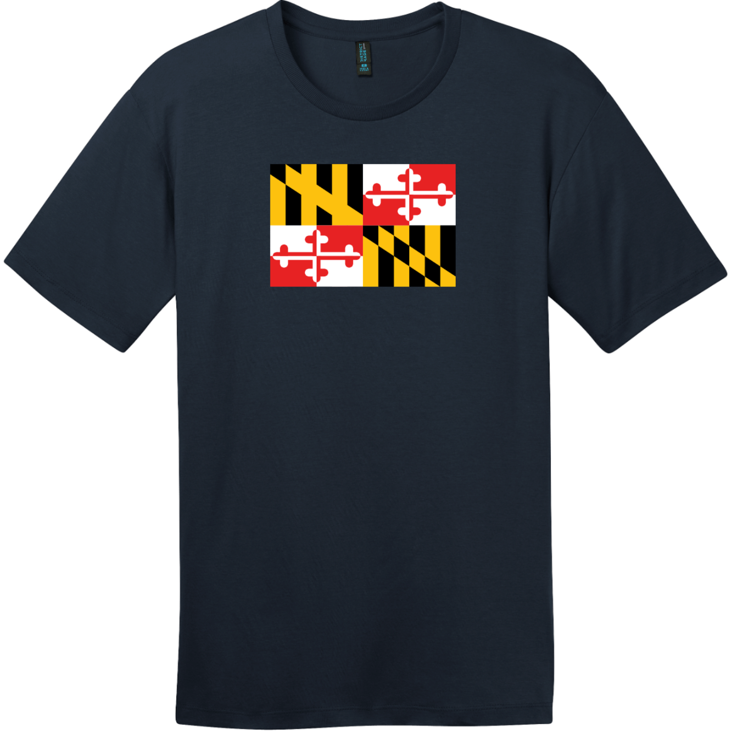 Maryland State Flag T-Shirt New Navy District Perfect Weight Tee DT104