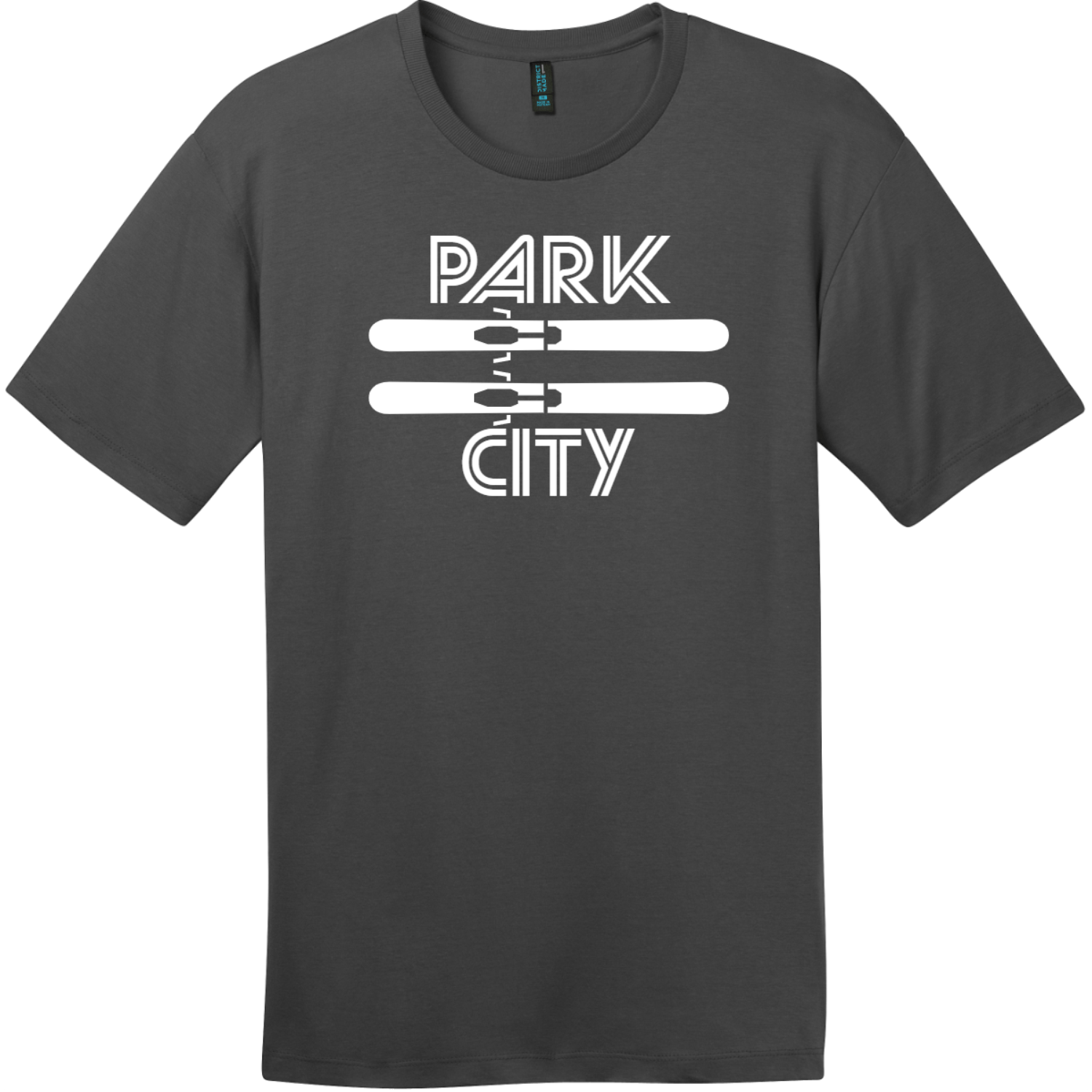 Park City Utah Ski T-Shirt Charcoal District Perfect Weight Tee DT104