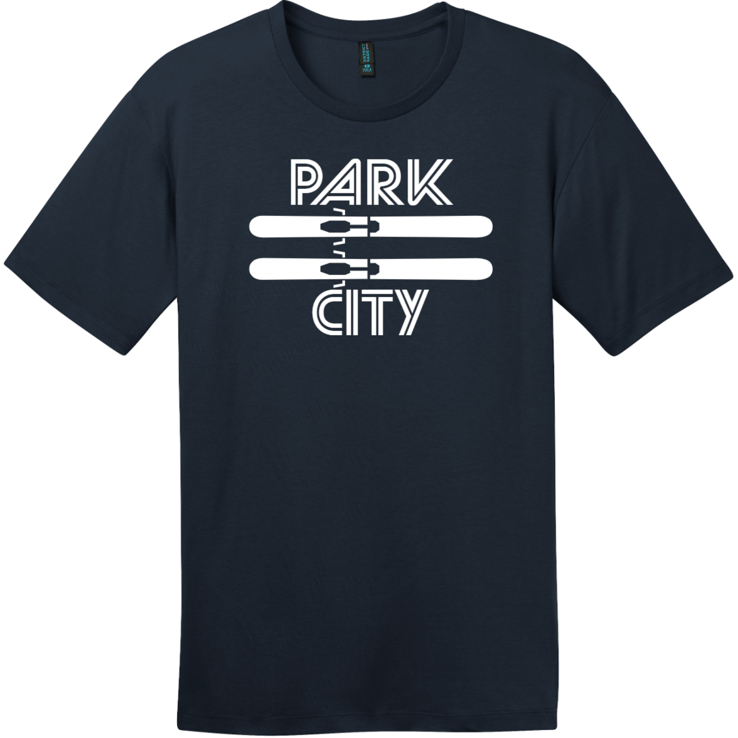 Park City Utah Ski T-Shirt New Navy District Perfect Weight Tee DT104
