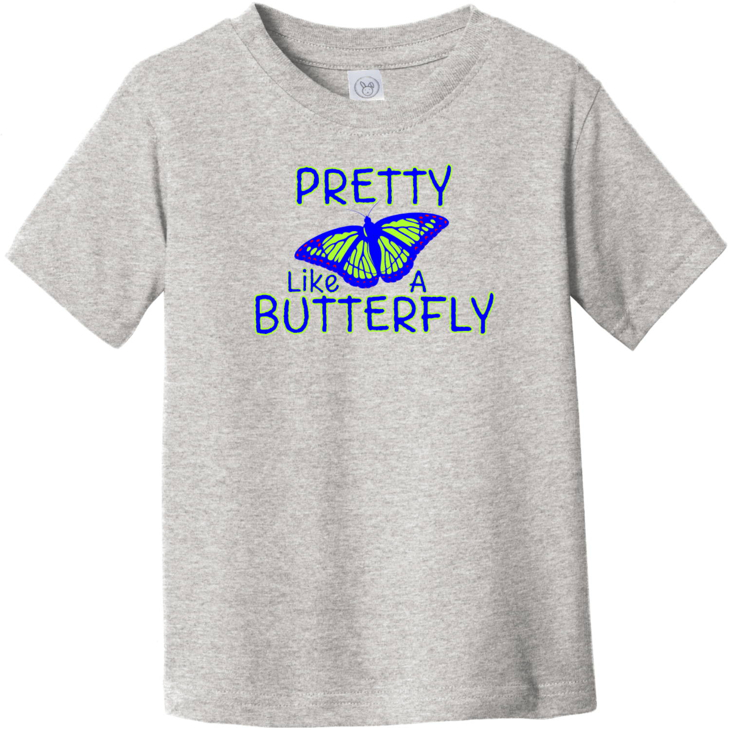 Pretty Like A Butterfly Toddler T-Shirt Heather Rabbit Skins Toddler Fine Jersey Tee RS3321