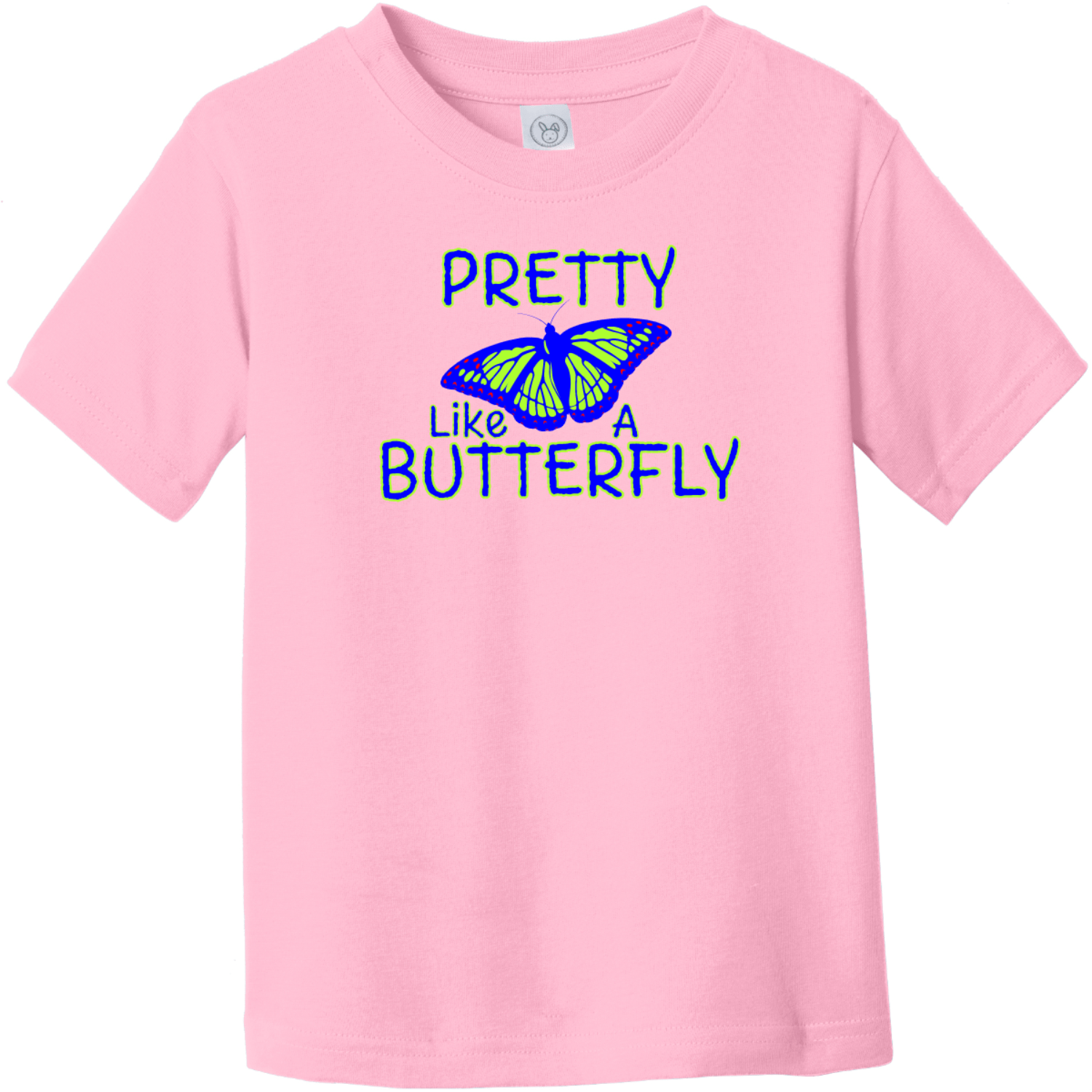 Pretty Like A Butterfly Toddler T-Shirt Pink Rabbit Skins Toddler Fine Jersey Tee RS3321