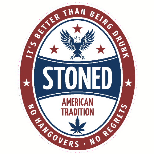 Stoned It's Better Than Being Drunk Sticker | U.S. Custom Stickers