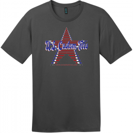 U.S. Custom Tees Really Cheap Retro Logo T-Shirt Charcoal District Perfect Weight Tee DT104