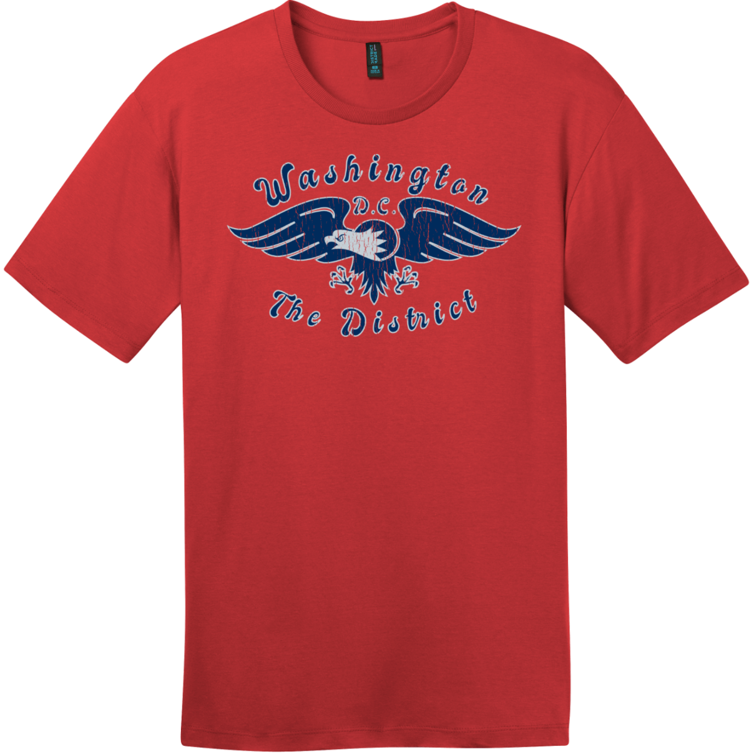 Washington DC The District Eagle T-Shirt Classic Red District Perfect Weight Tee DT104