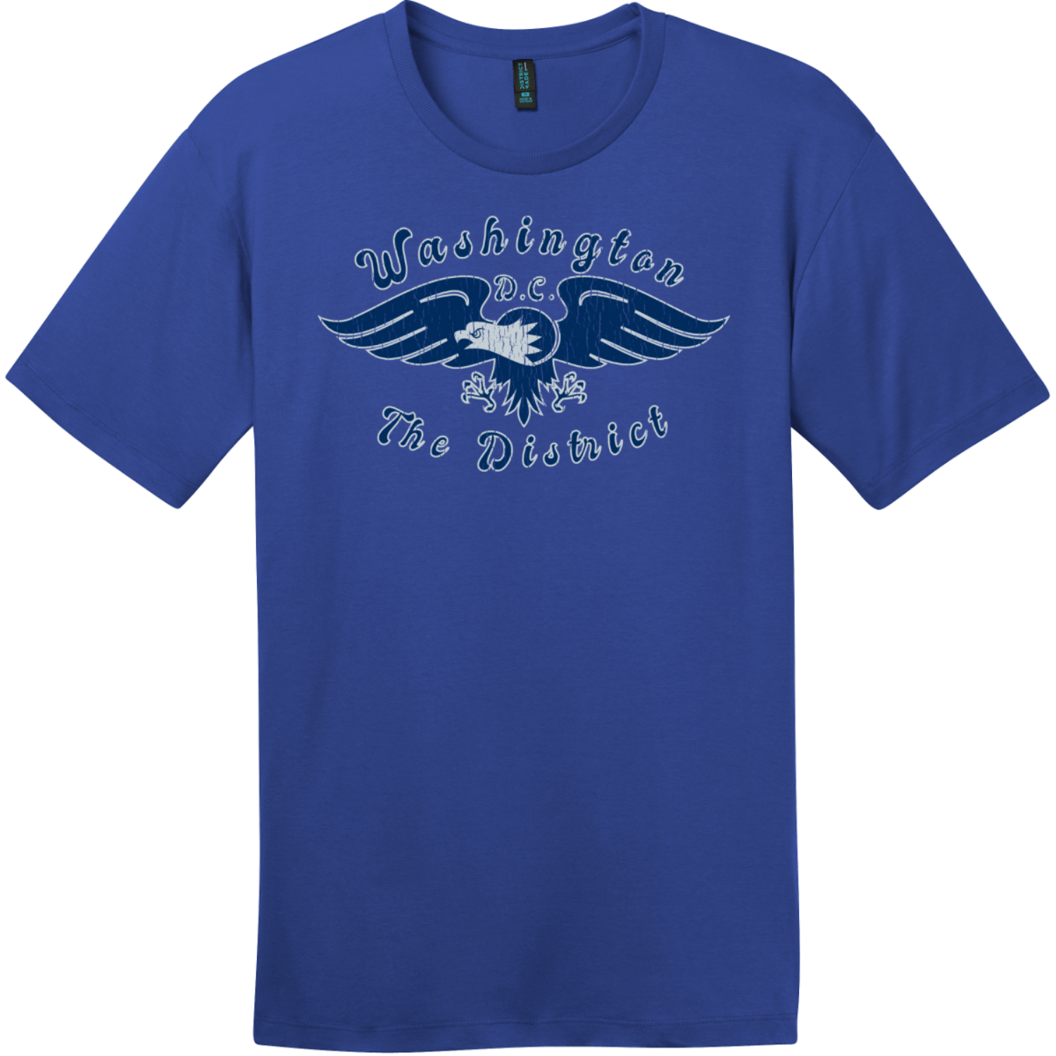 Washington DC The District Eagle T-Shirt Deep Royal District Perfect Weight Tee DT104