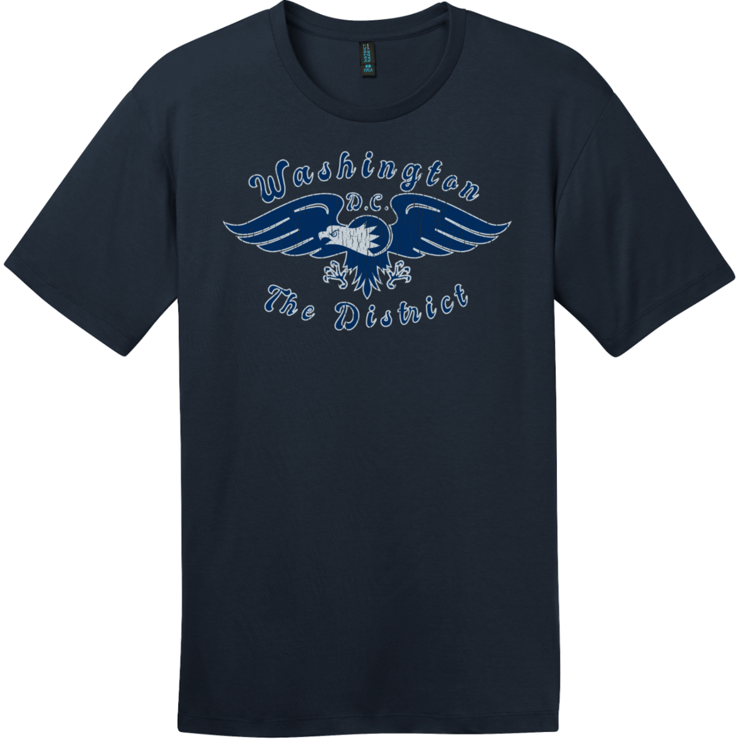 Washington DC The District Eagle T-Shirt New Navy District Perfect Weight Tee DT104