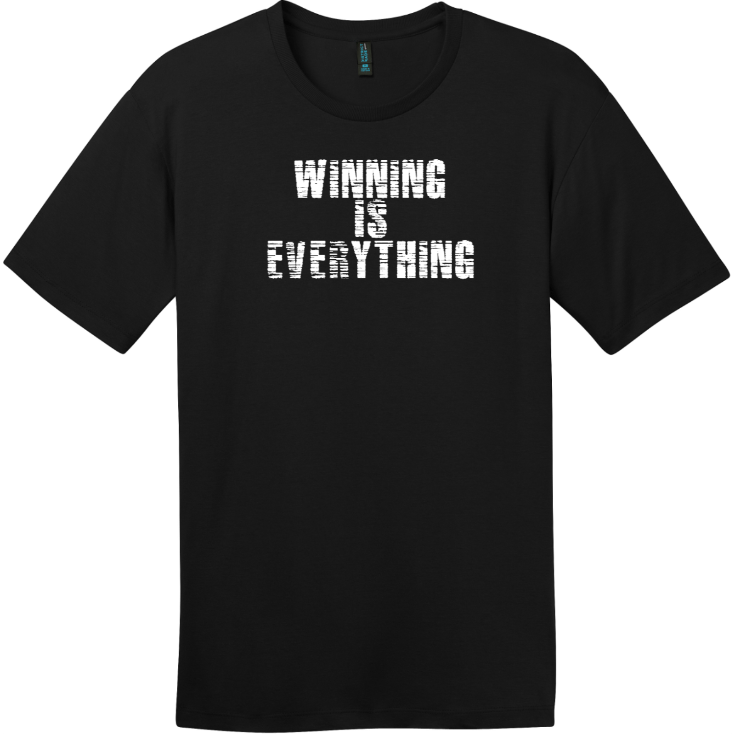 Winning Is Everything T-Shirt Jet Black District Perfect Weight Tee DT104