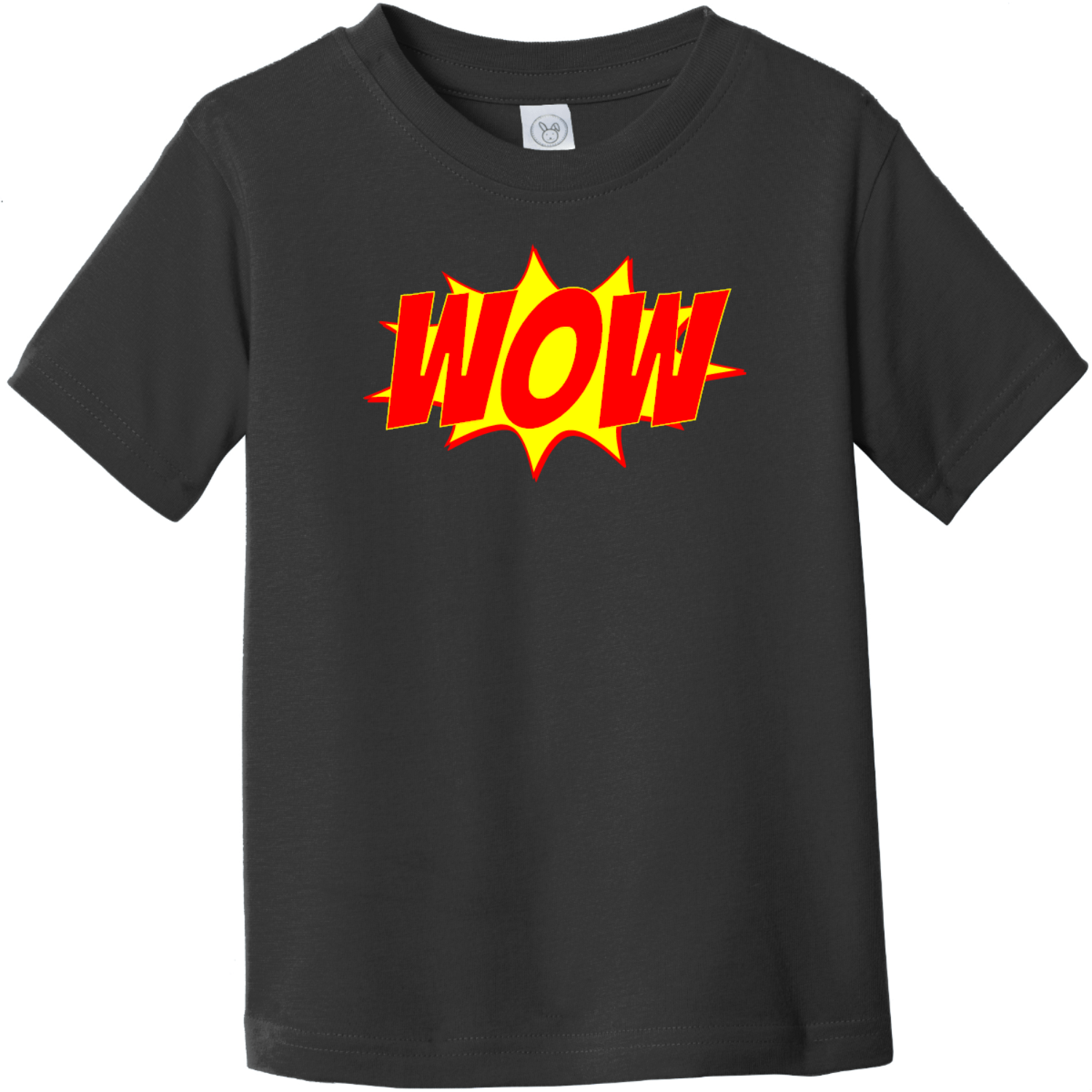 Wow Word Explosion Toddler T-Shirt Black Rabbit Skins Toddler Fine Jersey Tee RS3321