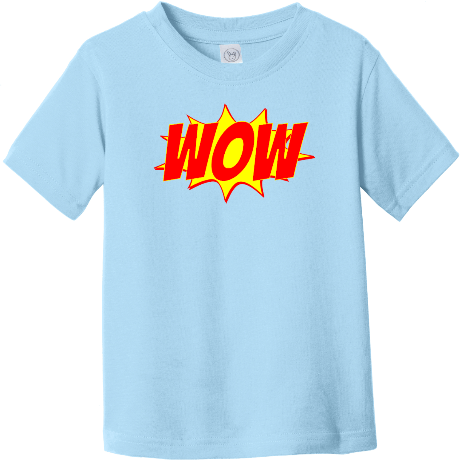 Wow Word Explosion Toddler T-Shirt Light Blue Rabbit Skins Toddler Fine Jersey Tee RS3321
