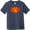 Wow Word Explosion Toddler T-Shirt Navy Rabbit Skins Toddler Fine Jersey Tee RS3321